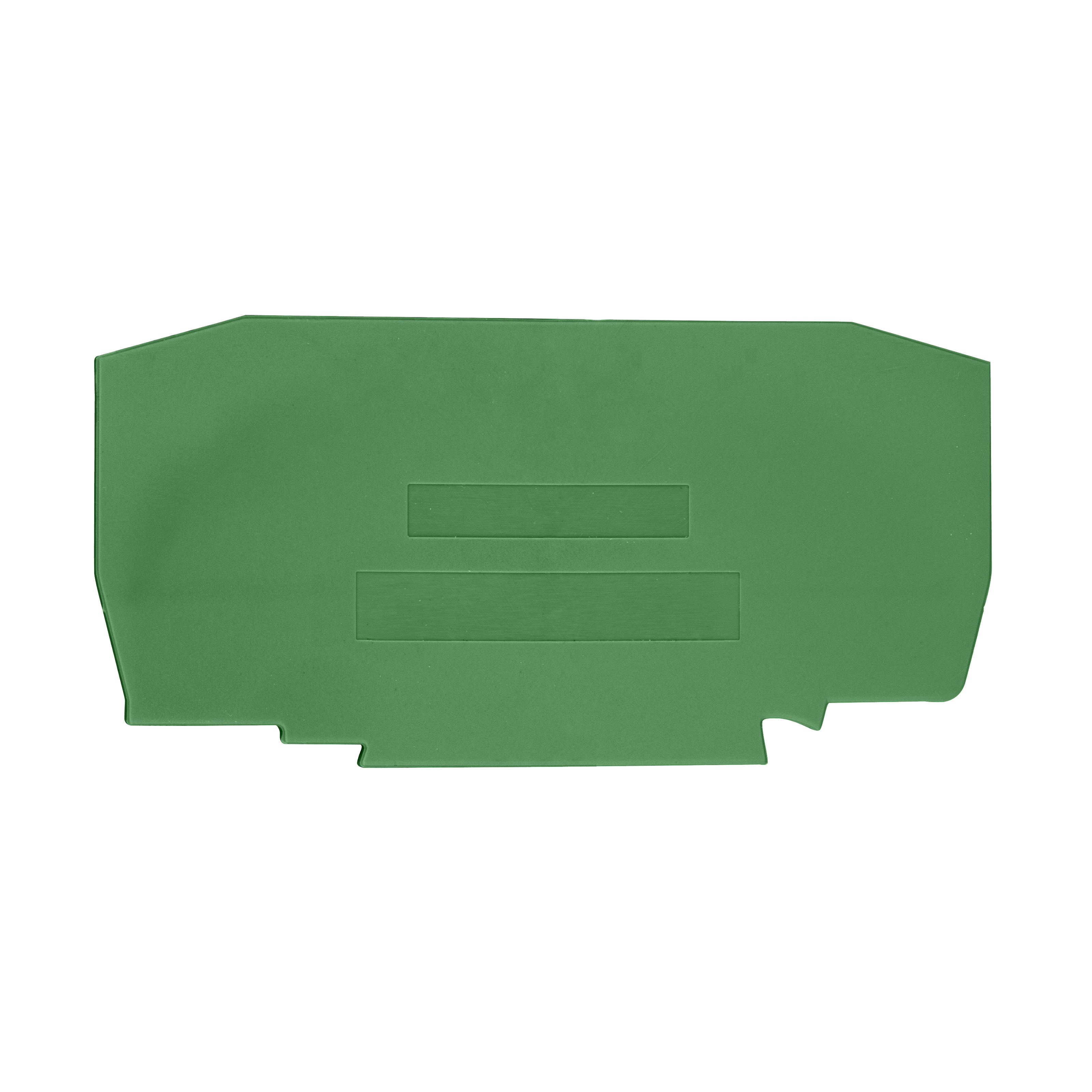 1 Stk Endplatte für Federkraftklemm Type YBK 10mm² grün IK632210--