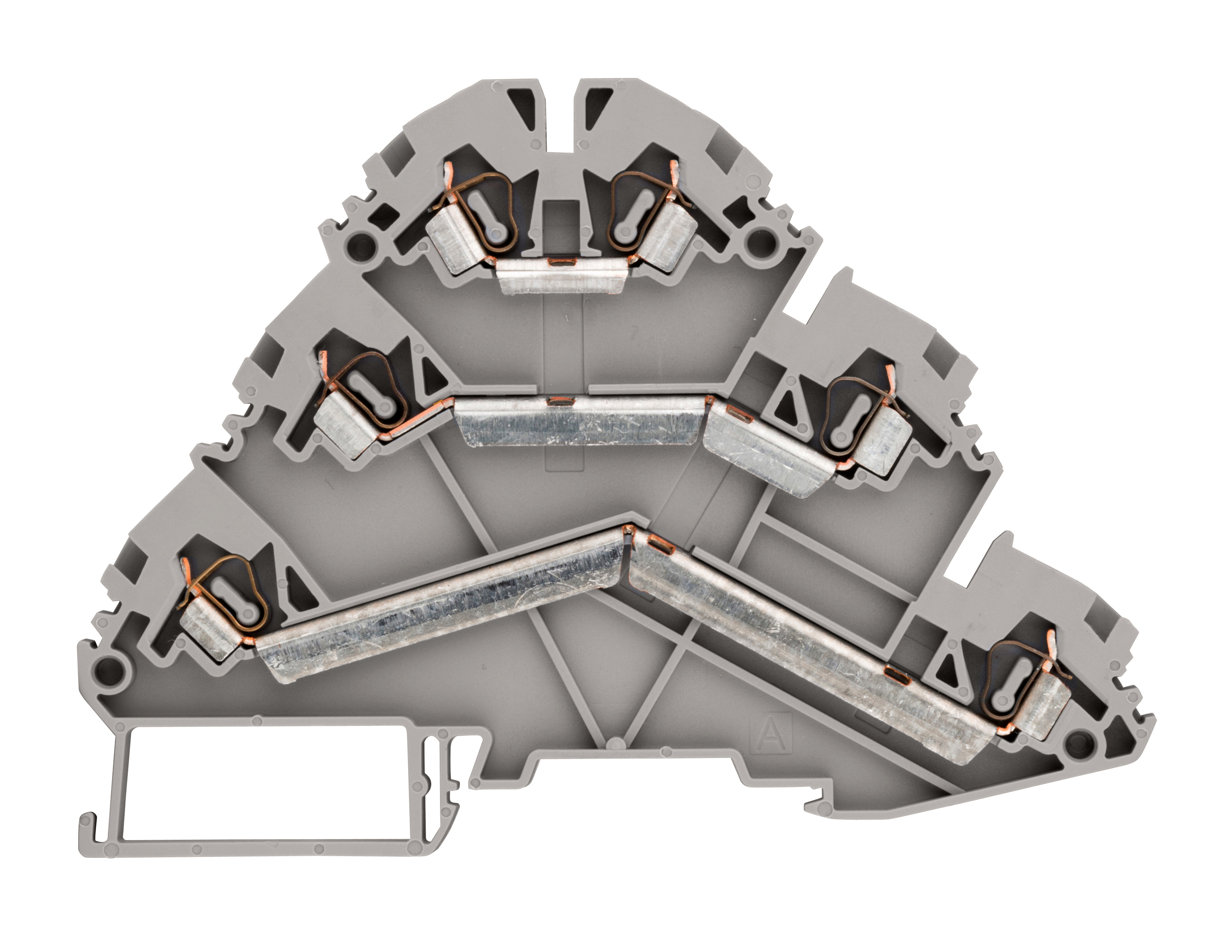 1 Stk Federkraft-Dreistockklemme 2,5mm², Type YBK 2,5 3F, grau IK690001--