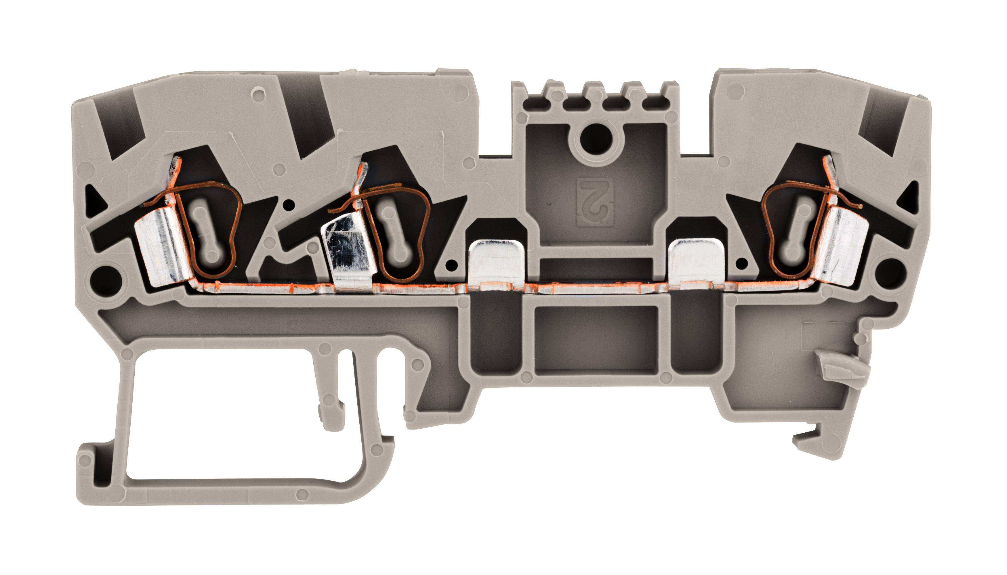 1 Stk SL-Mehrfachfederkraftklemme 2,5mm², Type YBK 2,5 E, grau IK690013--