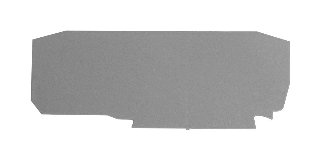 1 Stk Endplatte für Mehrfachfederklemme, Type YBK 2,5 E, grau IK690213--