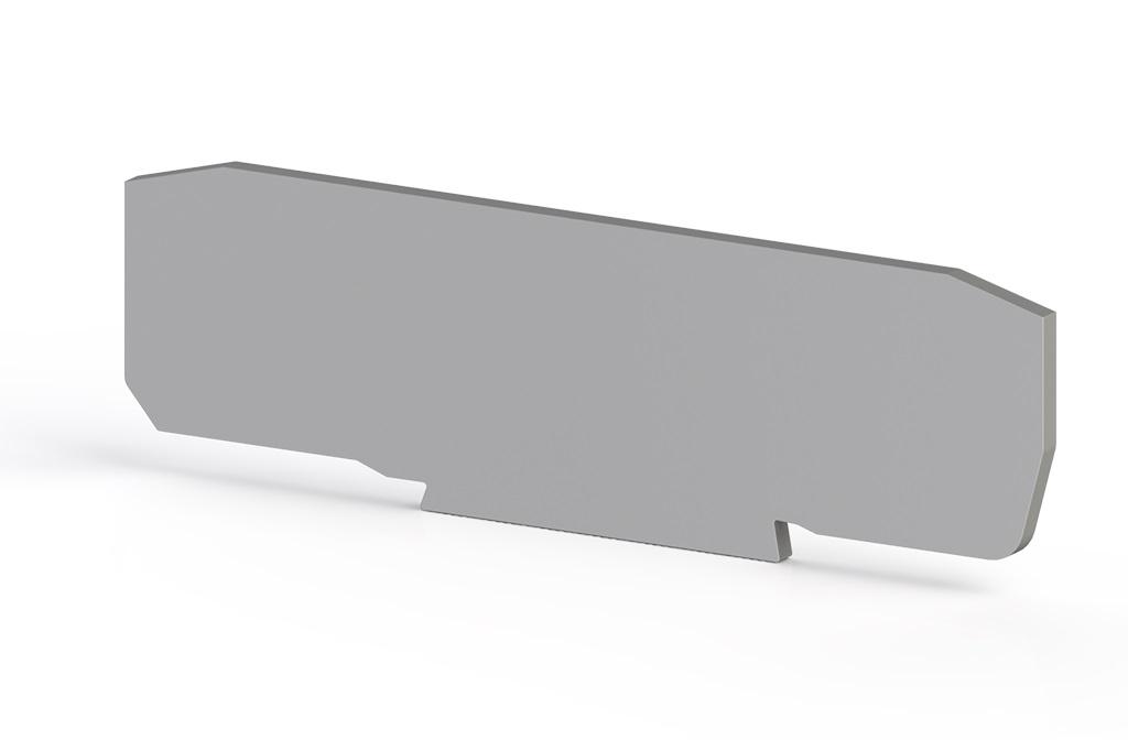 1 Stk Endplatte für Mehrfachfederklemme, Type YBK2,5C, grau IK690214--