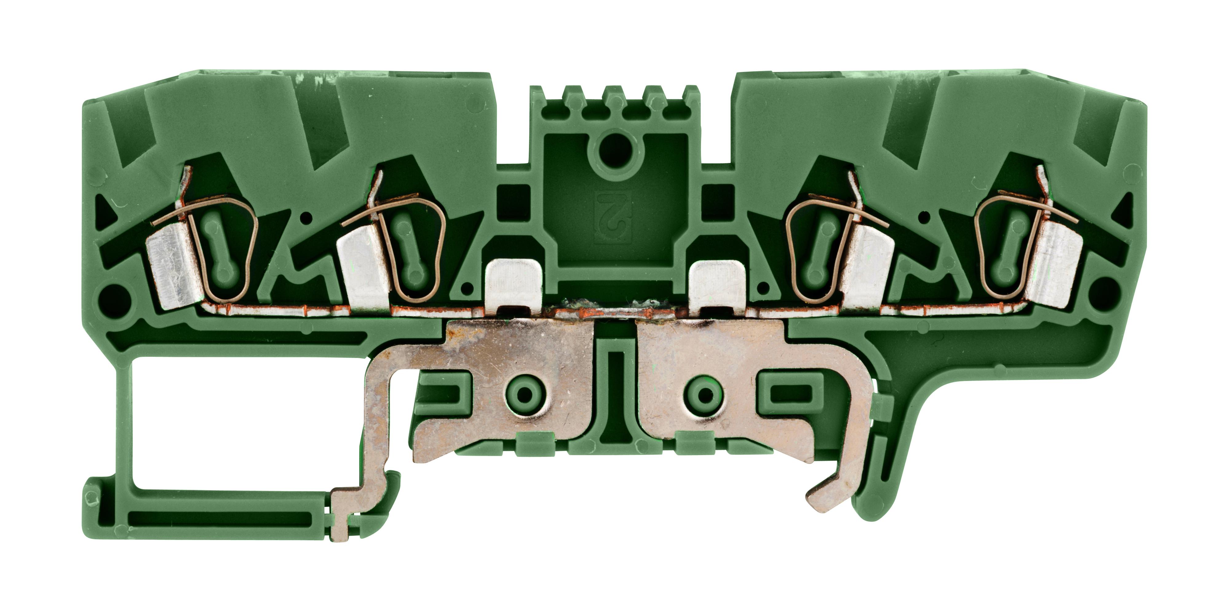 1 Stk Schutzleiter-Federkraftkl.2,5mm²,4-fach,YBK 2,5 CT gelb-grün IK692014--