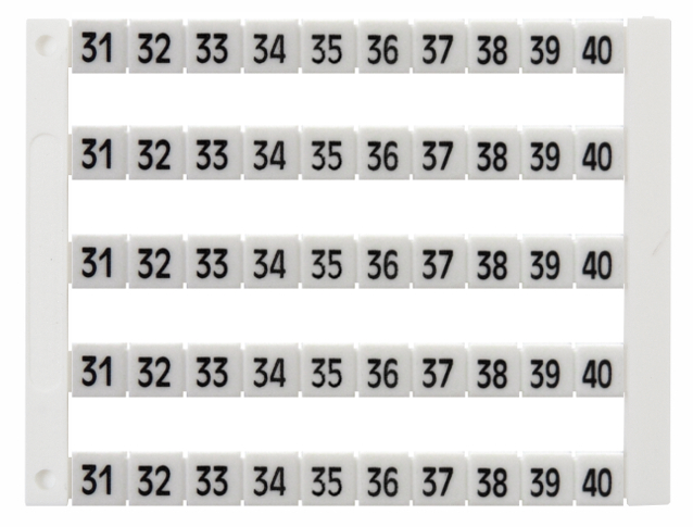 1 Stk Markierungsetikette Dekafix DY5-31-40 (50 Zeichen) IK697023--