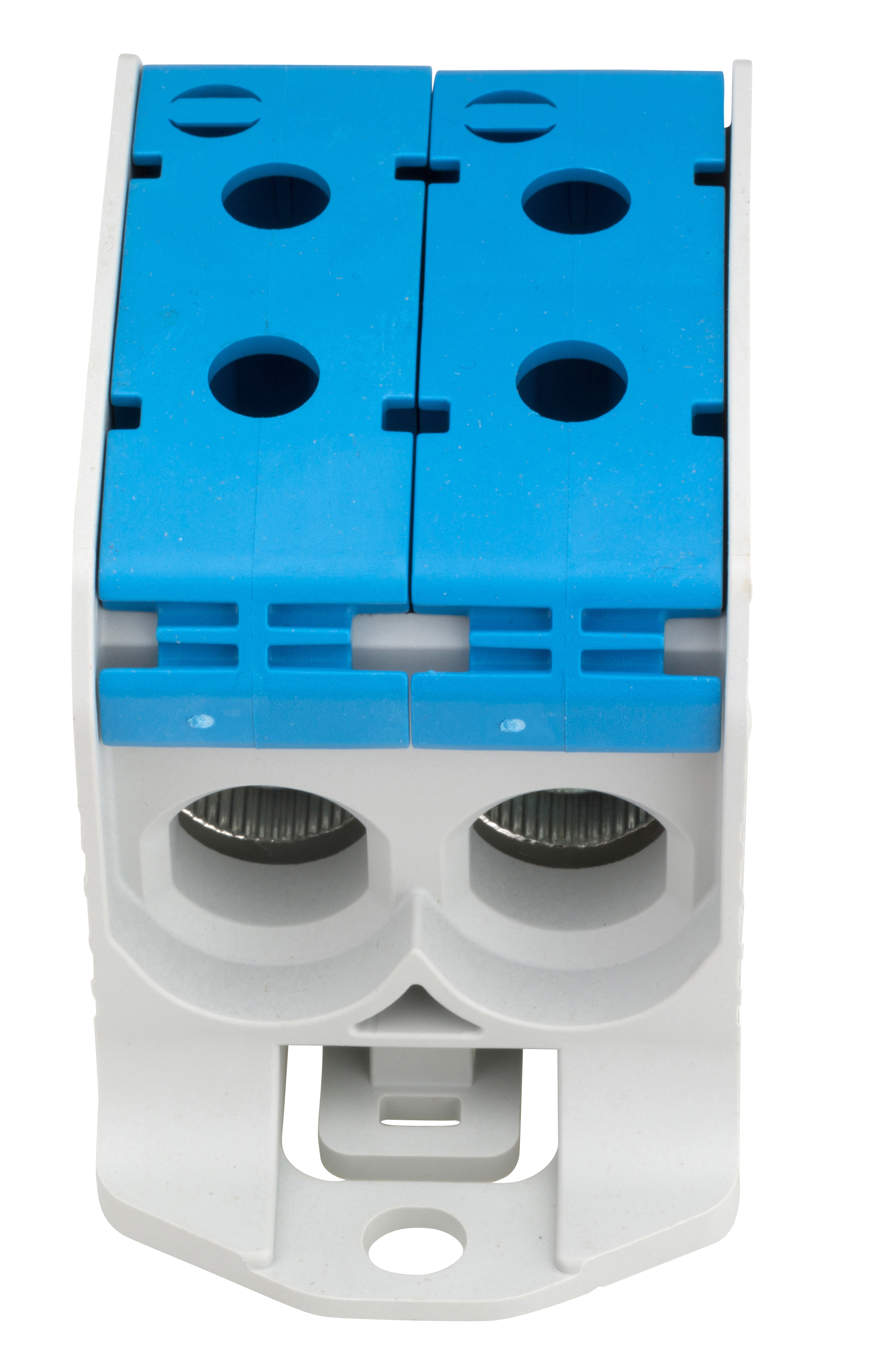 1 Stk Aluminium /Kupfer Klemme, 1-polig, Doppel 95mm² blau IKA21426--