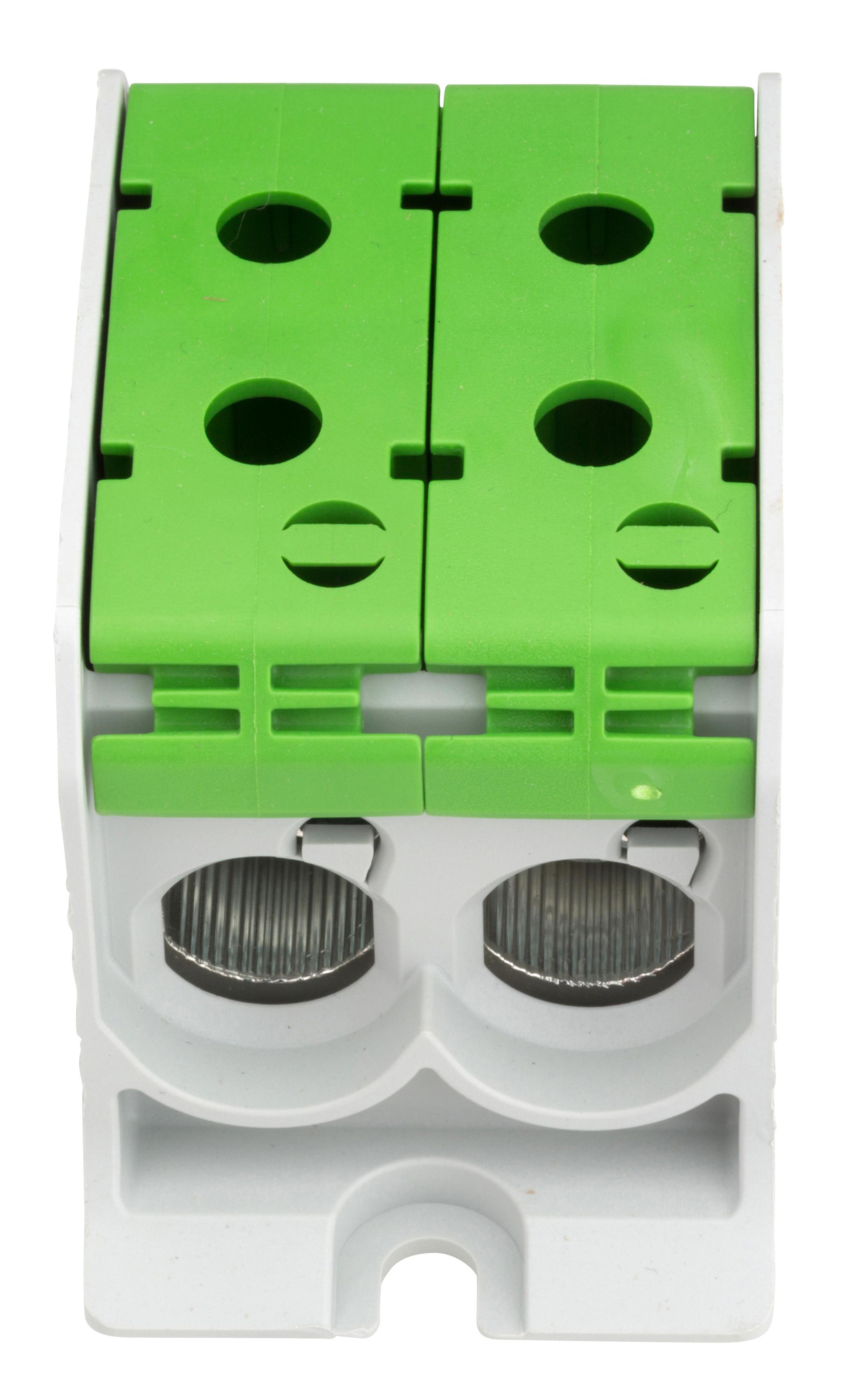1 Stk Aluminium /Kupfer Klemme, 1-polig, Doppel 95mm² grün IKA21436--