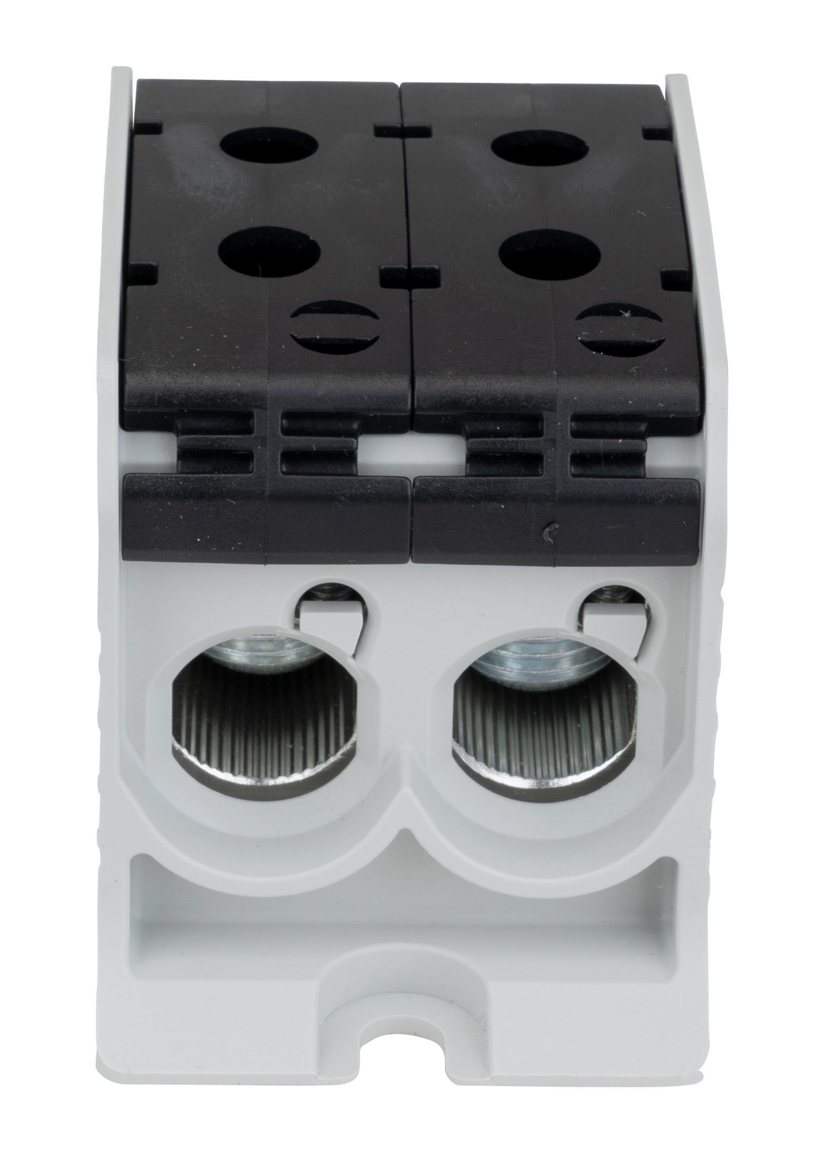 1 Stk Aluminium /Kupfer Klemme, 1-polig, Doppel 95mm² schwarz IKA21456--