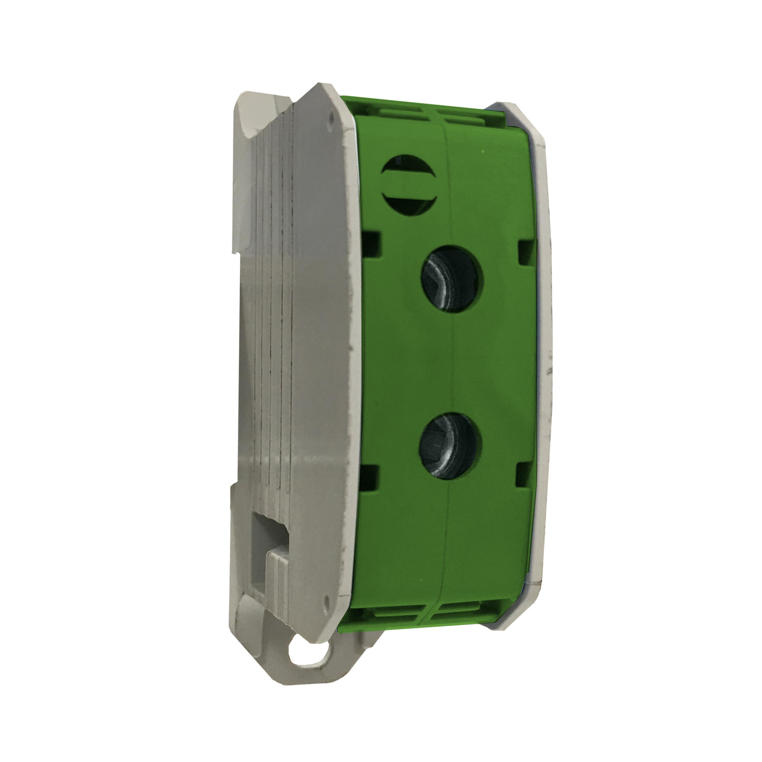 1 Stk Aluminium /Kupfer Klemme, 1-polig, 185mm² grün IKA21530--