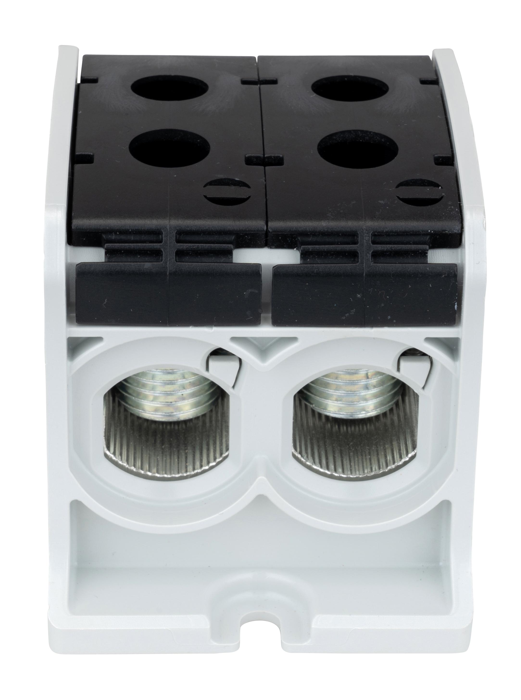 1 Stk Aluminium /Kupfer Klemme, 1-polig, Doppel 185mm² schwarz IKA21556--