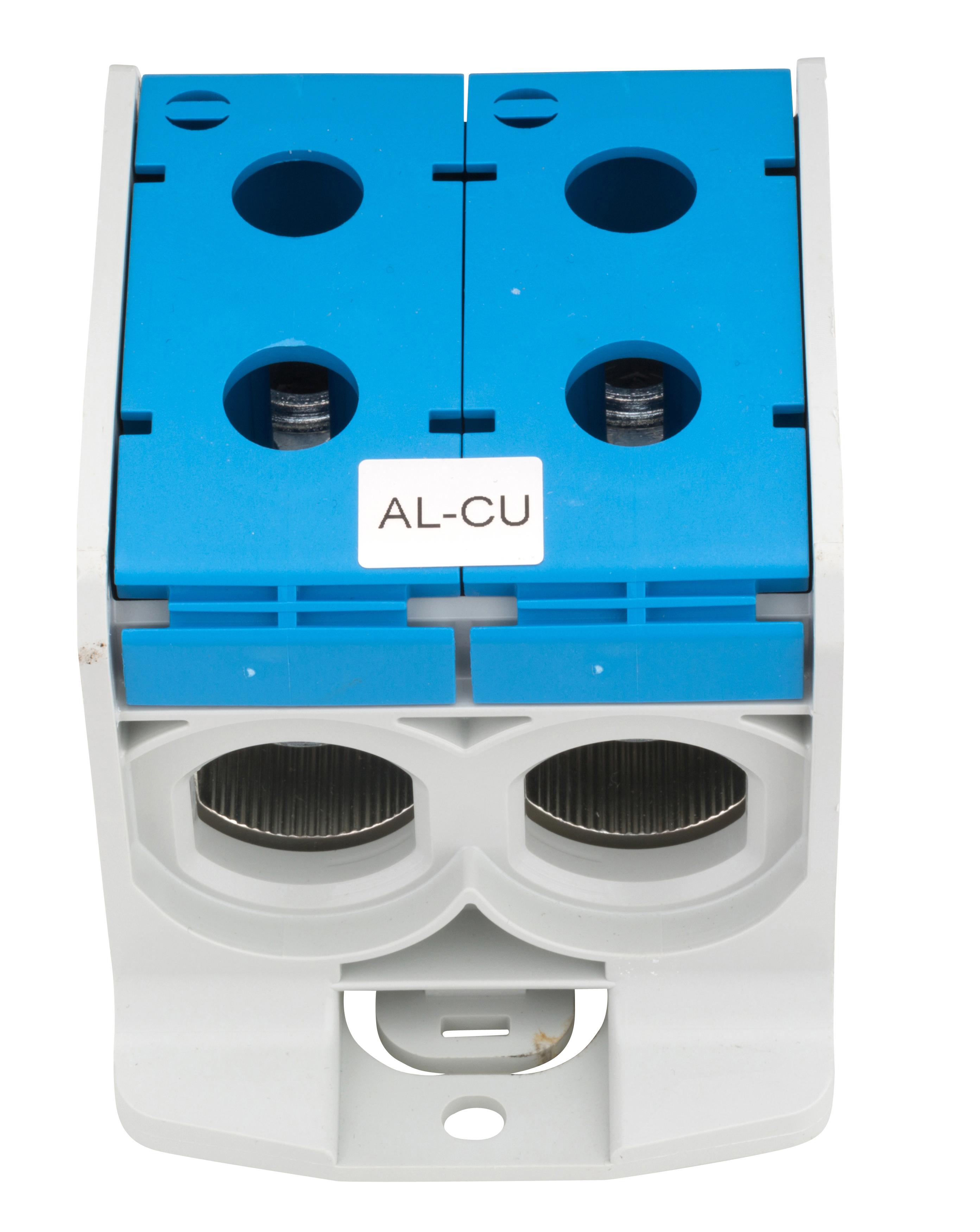1 Stk Aluminium /Kupfer Klemme, 1-polig, Doppel 300mm² blau IKA21726--