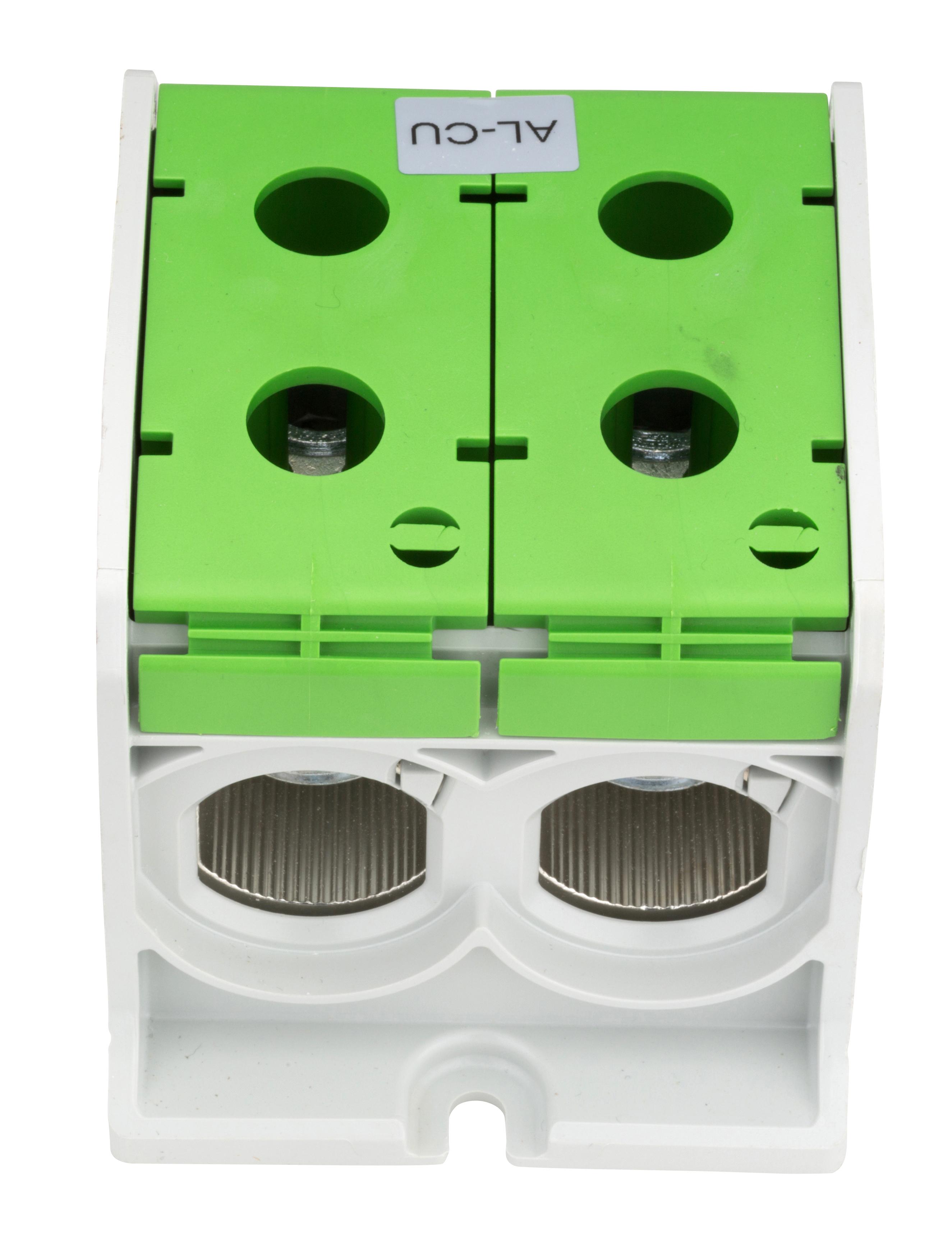 1 Stk Aluminium /Kupfer Klemme, 1-polig, Doppel 300mm² grün IKA21736--