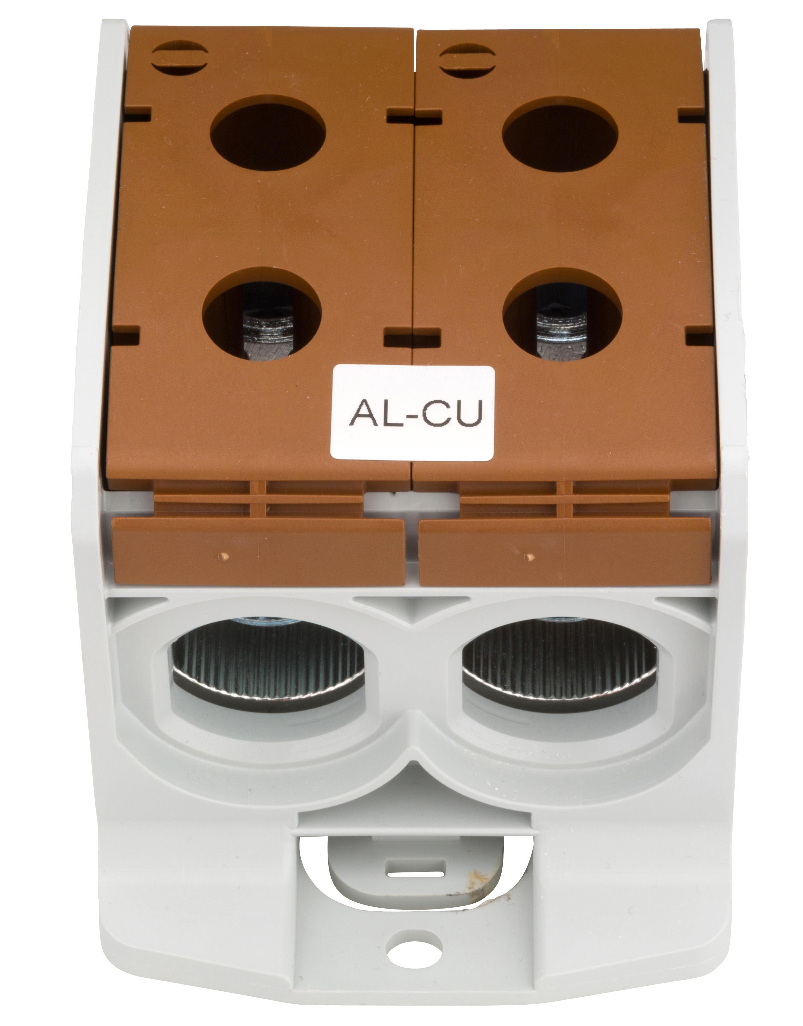 1 Stk Aluminium /Kupfer Klemme, 1-polig, Doppel 300mm² braun IKA21746--