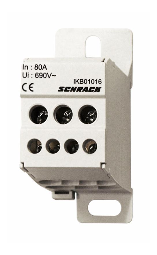 1 Stk Anschlussblock, 1-polig, 80A, zu 3x16mm², ab 4x6mm² IKB01016--