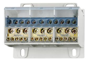 1 Stk Anschlussblock, 4-polig, 100A, zu 2x16+5x6mm² ab 6x16+4x6mm² IKB14016--