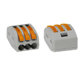 1 Stk Wago-Verbindungsklemme 3 x 0,08-4 mm² IKW22203--