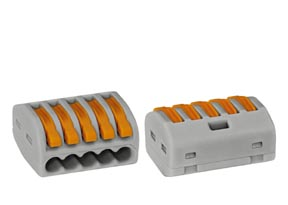 1 Stk Wago-Verbindungsklemme 5 x 0,08-4 mm² IKW22205--