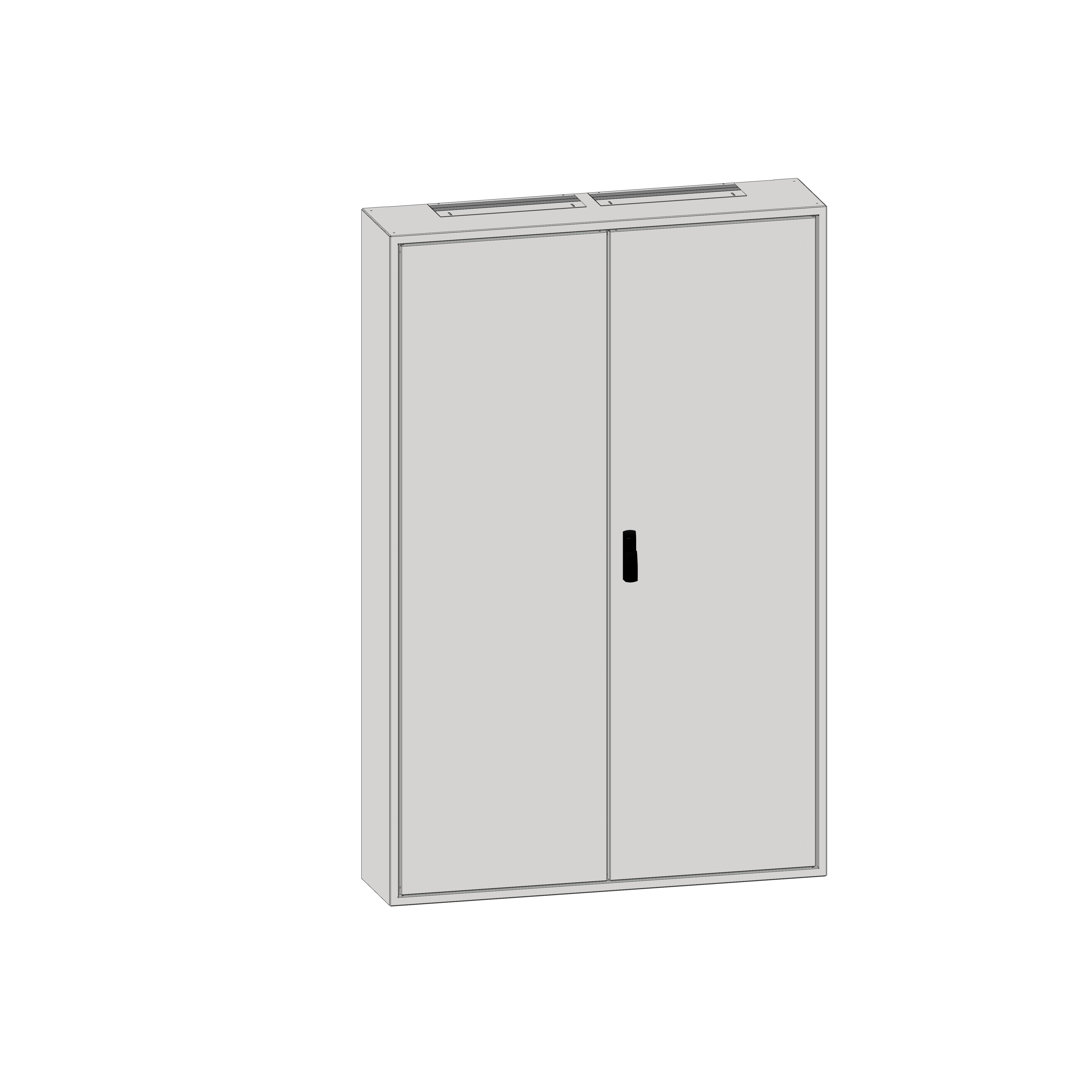 1 Stk Aufputz-Rahmen 5A-45 mit Türe, Rückwand und Schwenkhebel IL036545-F