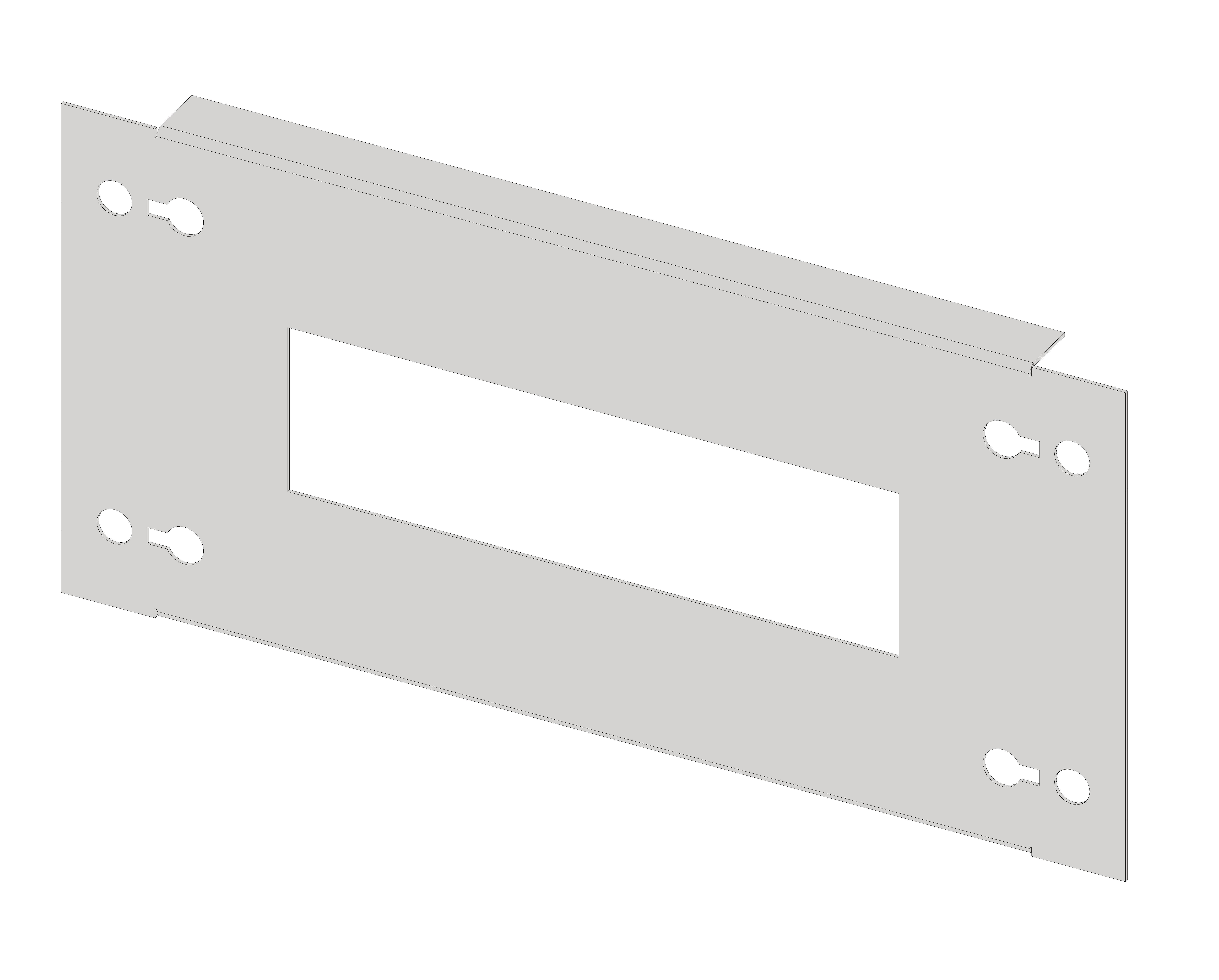 1 Stk Gerätefrontplatte 1G3 Stahlblech IL051103-H