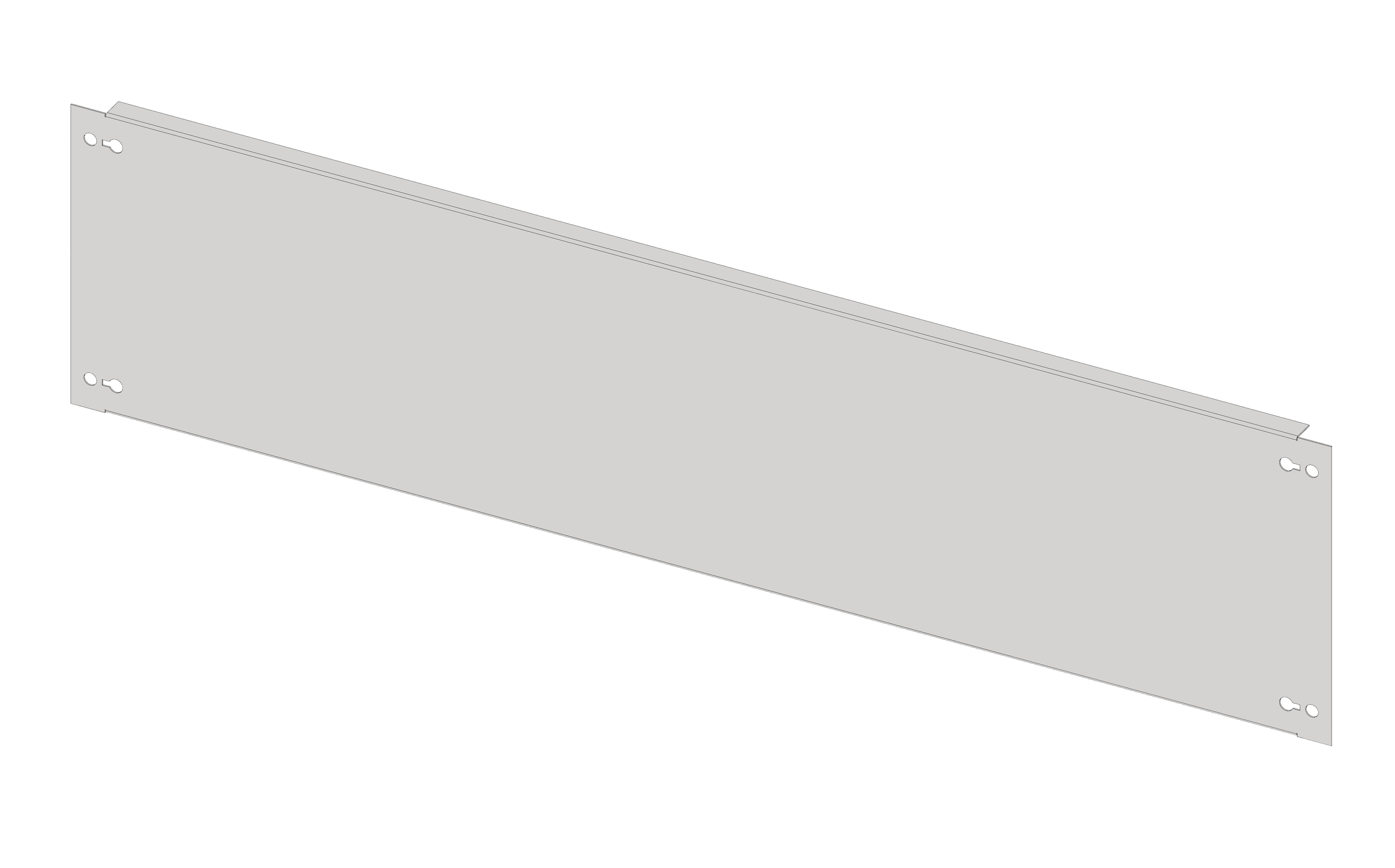 1 Stk Blindfrontplatte 4B5 Stahlblech IL056405-H