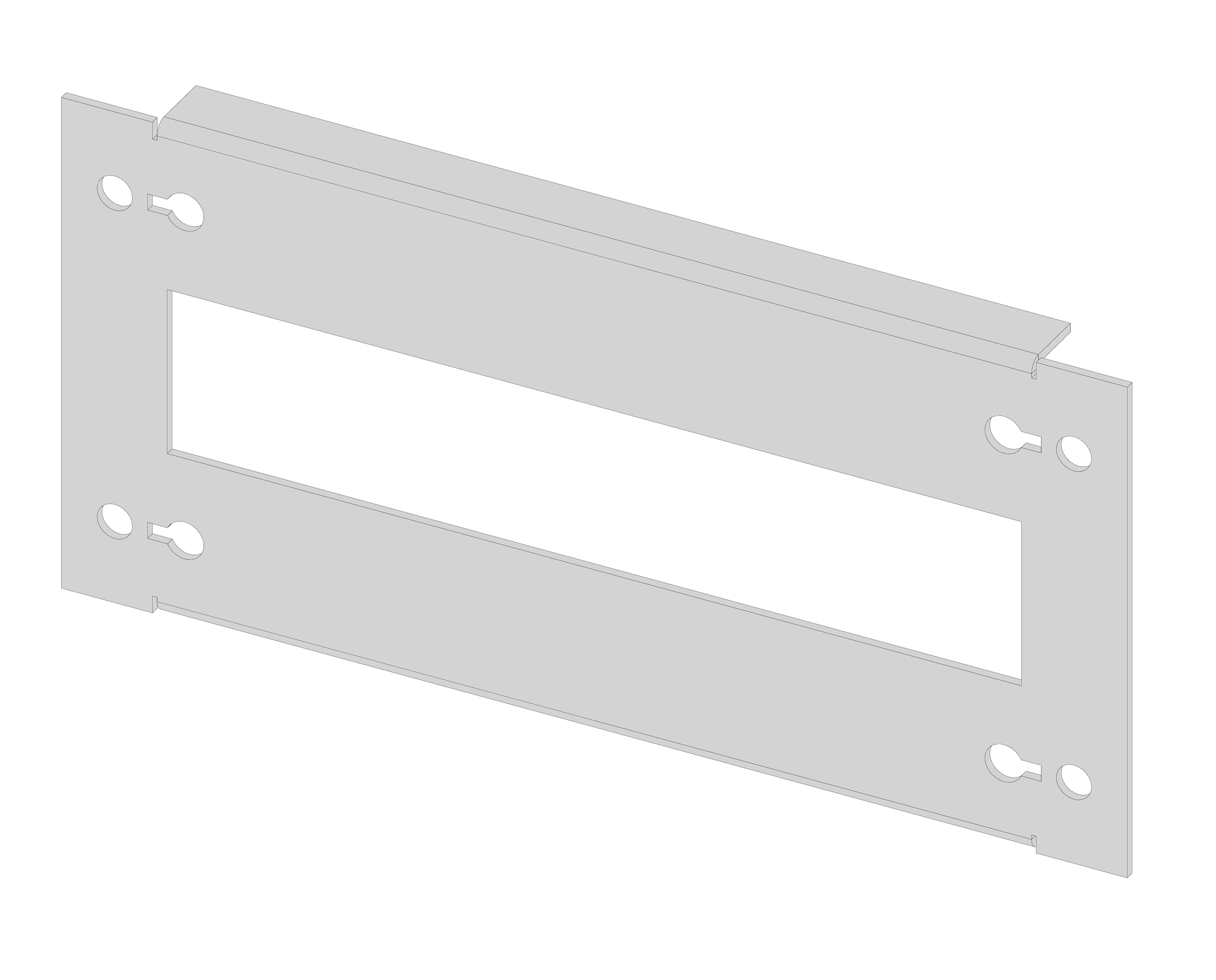 1 Stk Gerätefrontplatte 1G3K-L Kunststoff, langer Ausschnitt IL061103-H