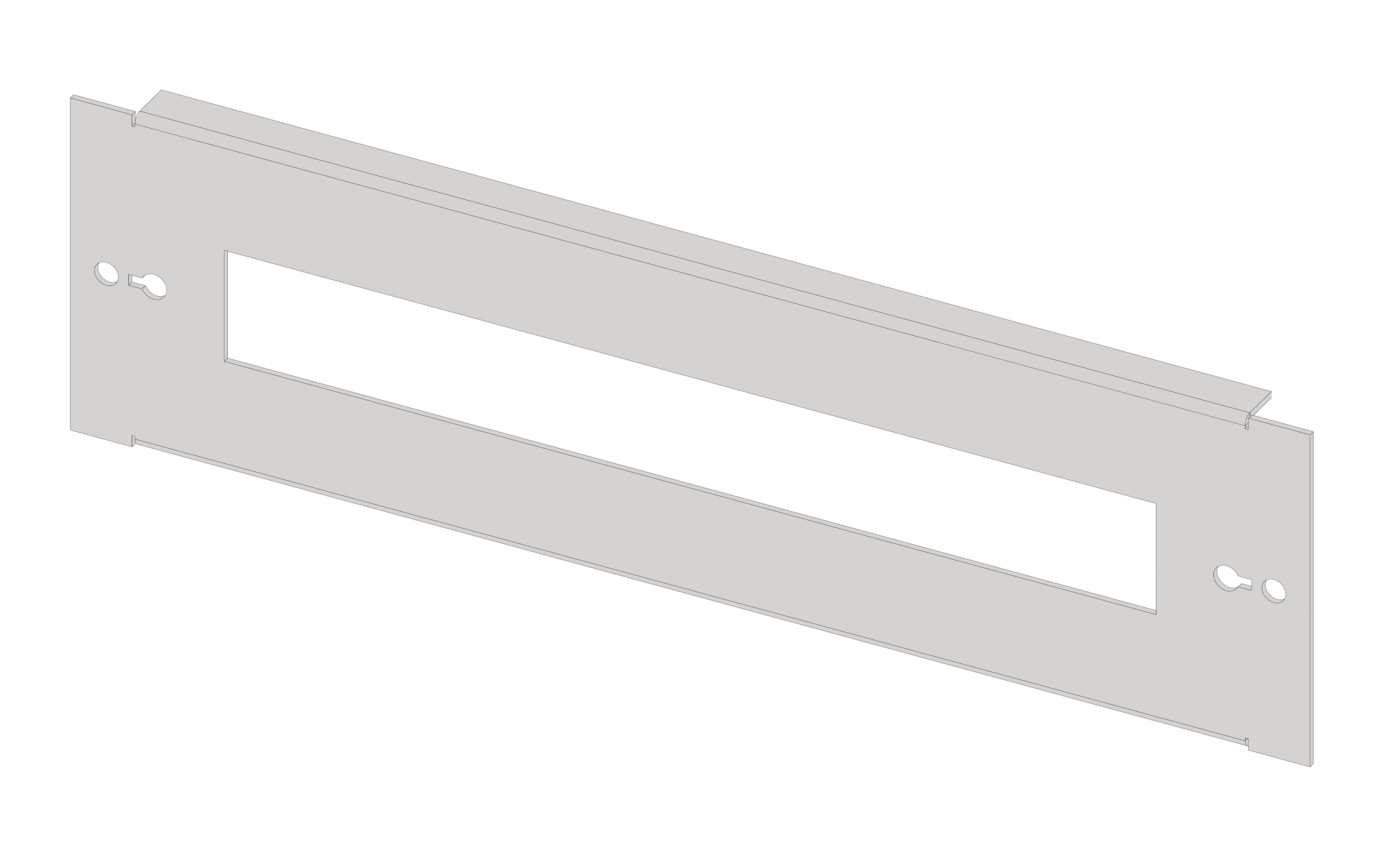 1 Stk Gerätefrontplatte 2G3K Kunststoff IL061203-H