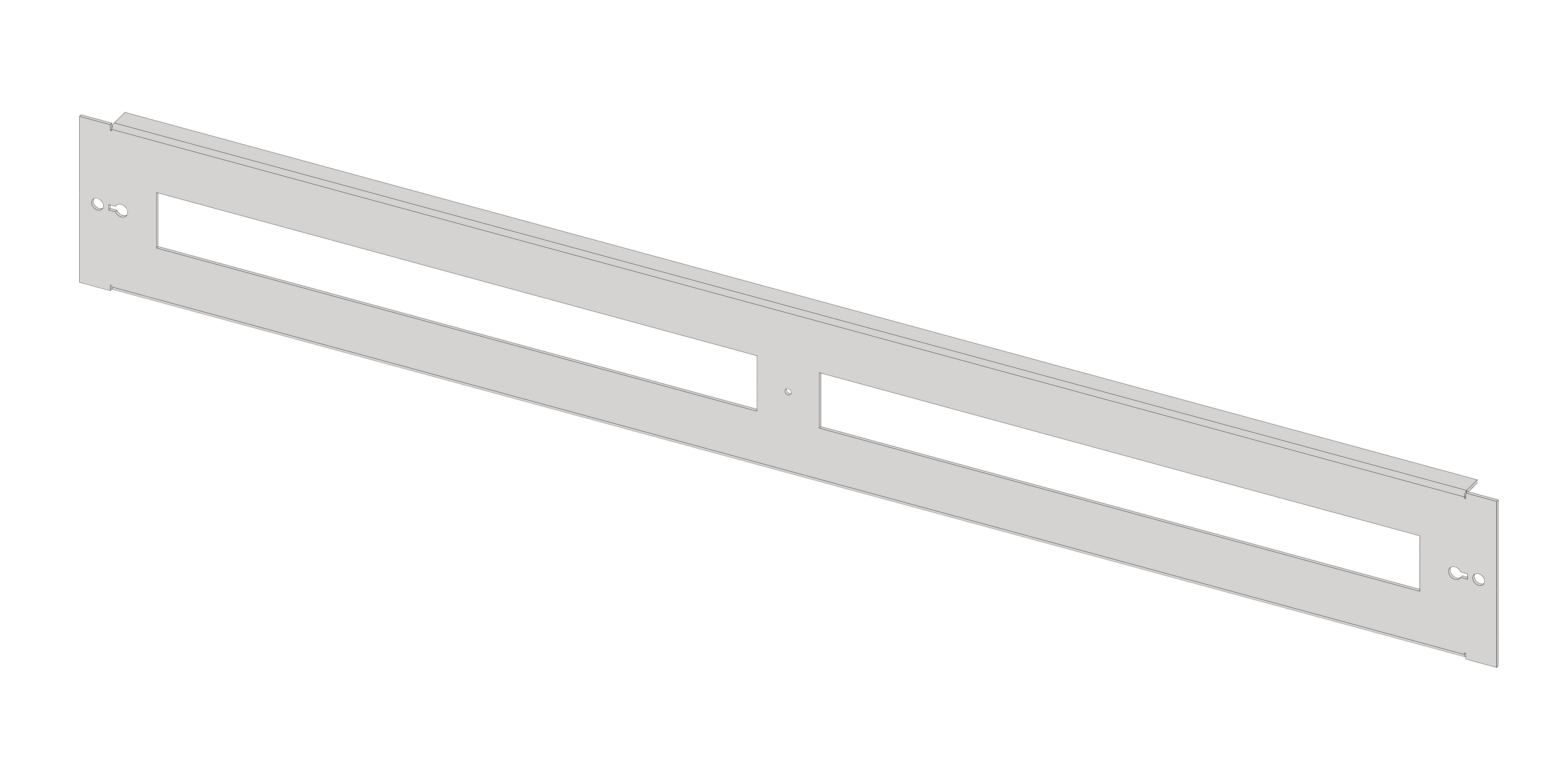 1 Stk Gerätefrontplatte 5G3K Kunststoff IL061503-F