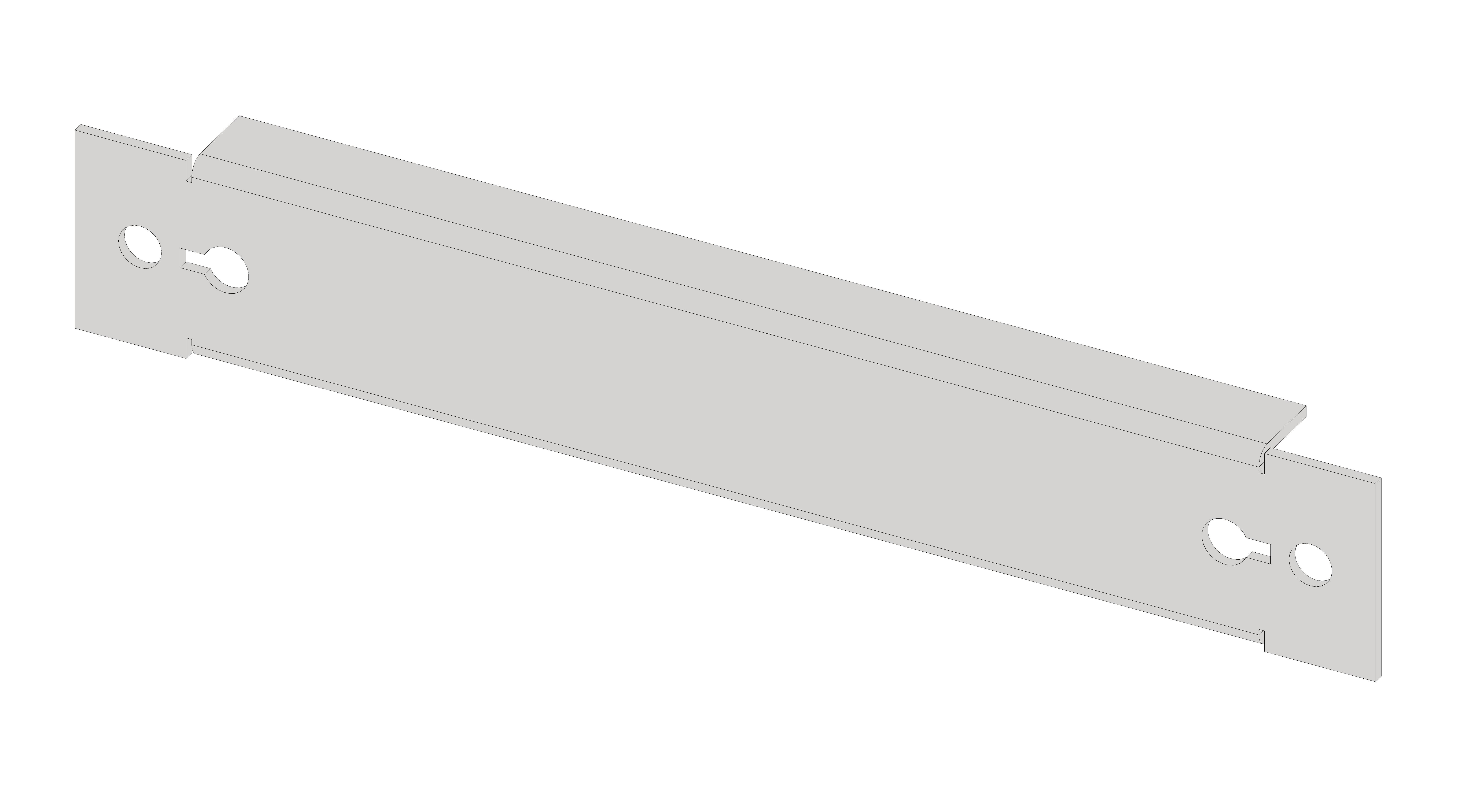 1 Stk Blindfrontplatte 1B1K Kunststoff IL066101-H