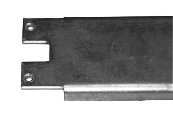 1 Stk Montageplatte 2ZP, blank, 450x70x13mm IL080209-F