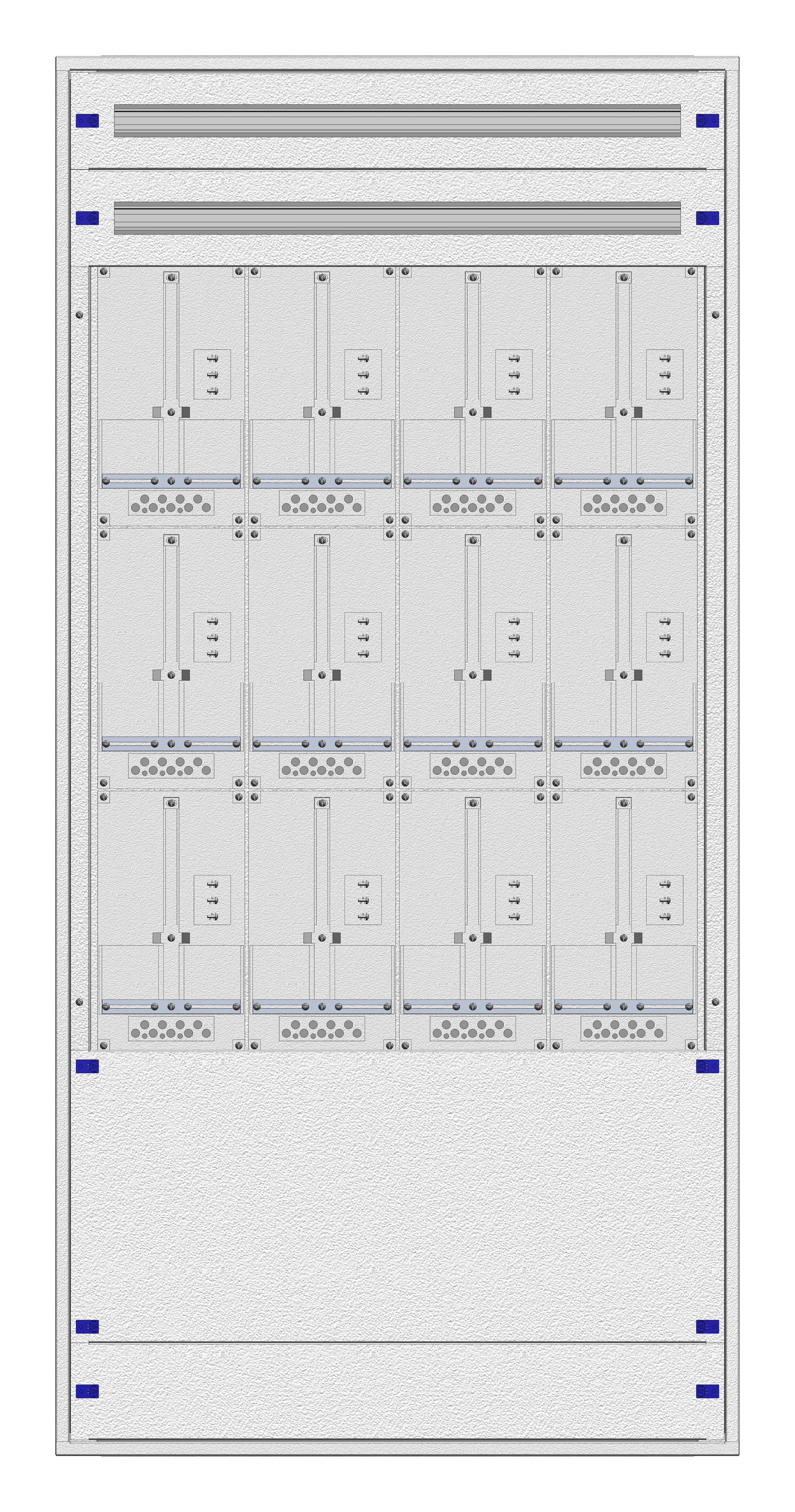 1 Stk Masken-Zählerverteiler 4M-42M/WIEN 12ZP, H1995B980T200mm IL122442WS