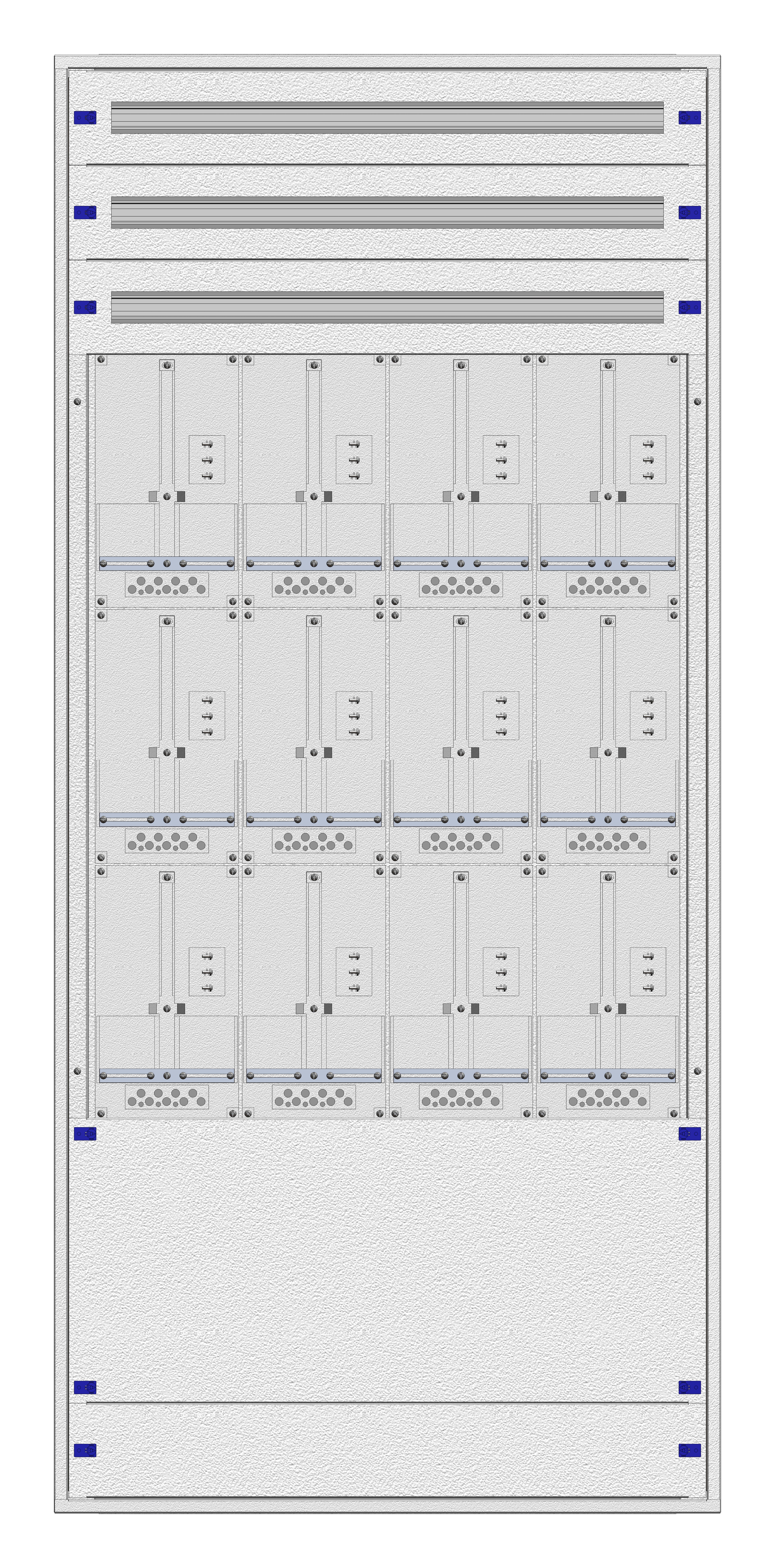 1 Stk Masken-Zählerverteiler 4M-45M/WIEN 12ZP, H2130B980T200mm IL122445WS