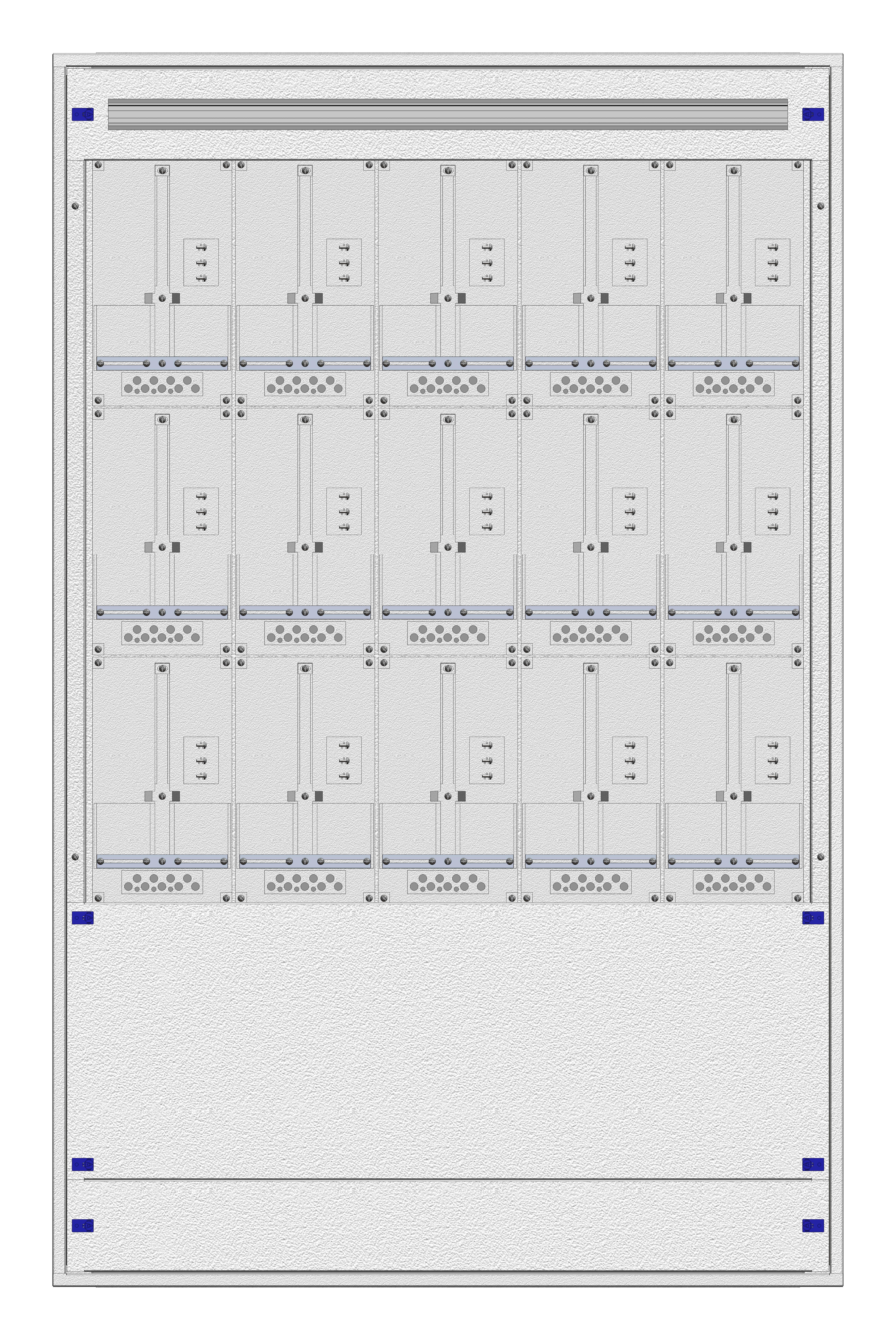 1 Stk Masken-Zählerverteiler 5M-39M/WIEN 15ZP, H1855B1180T200mm IL122539WS