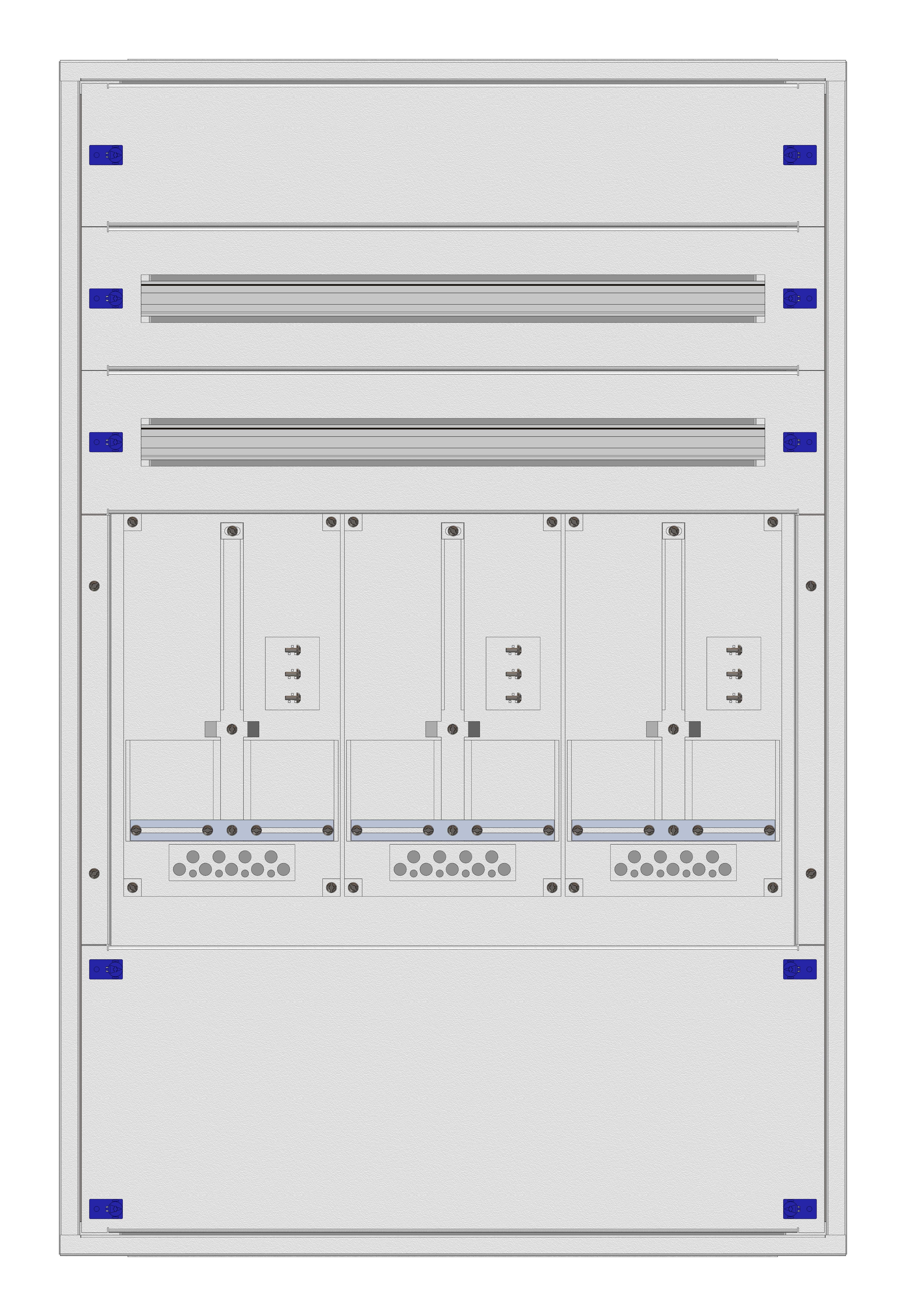 1 Stk Masken-Zählerverteiler 3M-24F/KTN 3ZP, H1150B760T200mm IL153324KK