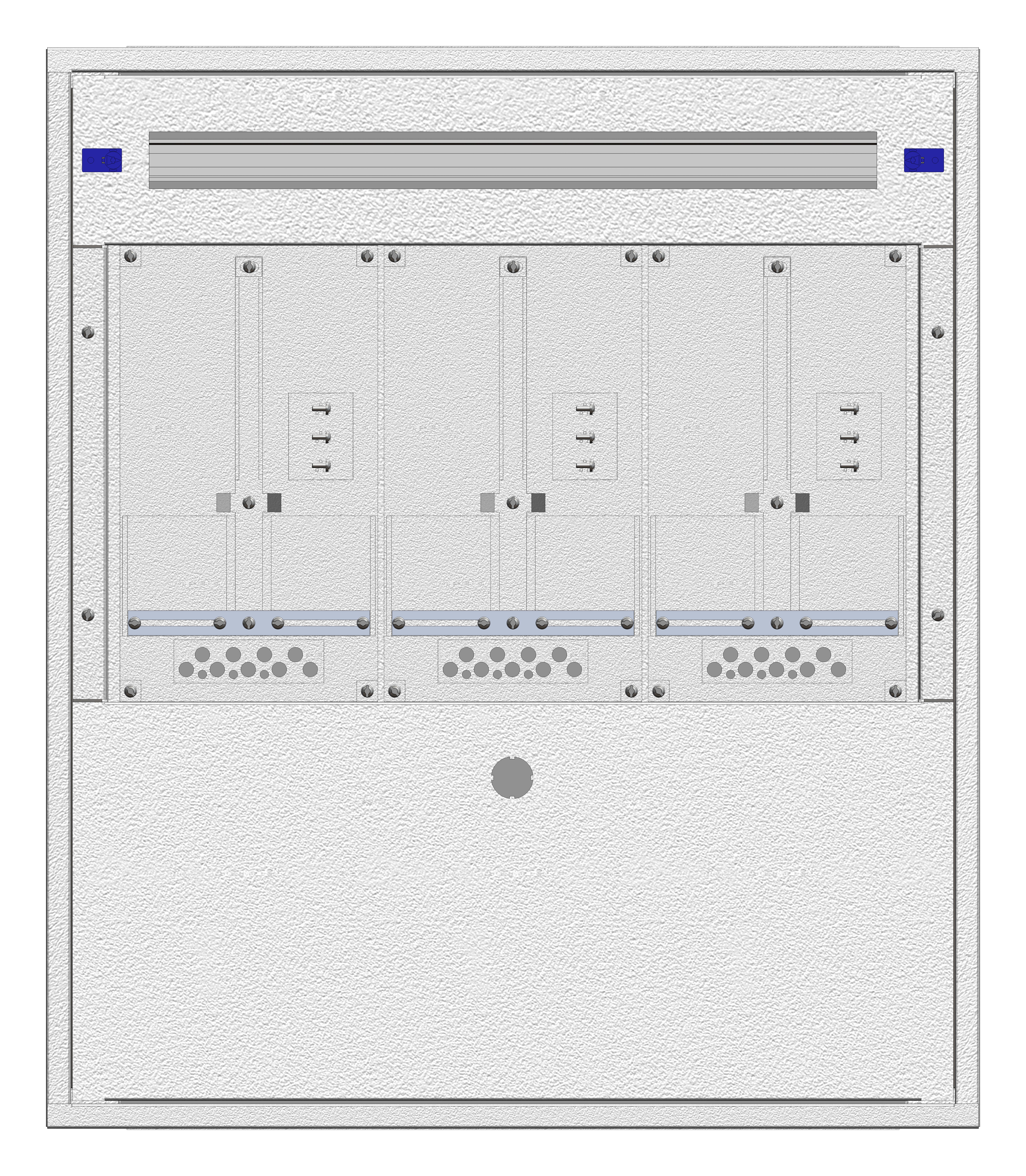 1 Stk Aufputz-Zählerverteiler 3A-18E/BGLD 3ZP, H915B810T250mm IL160318BS