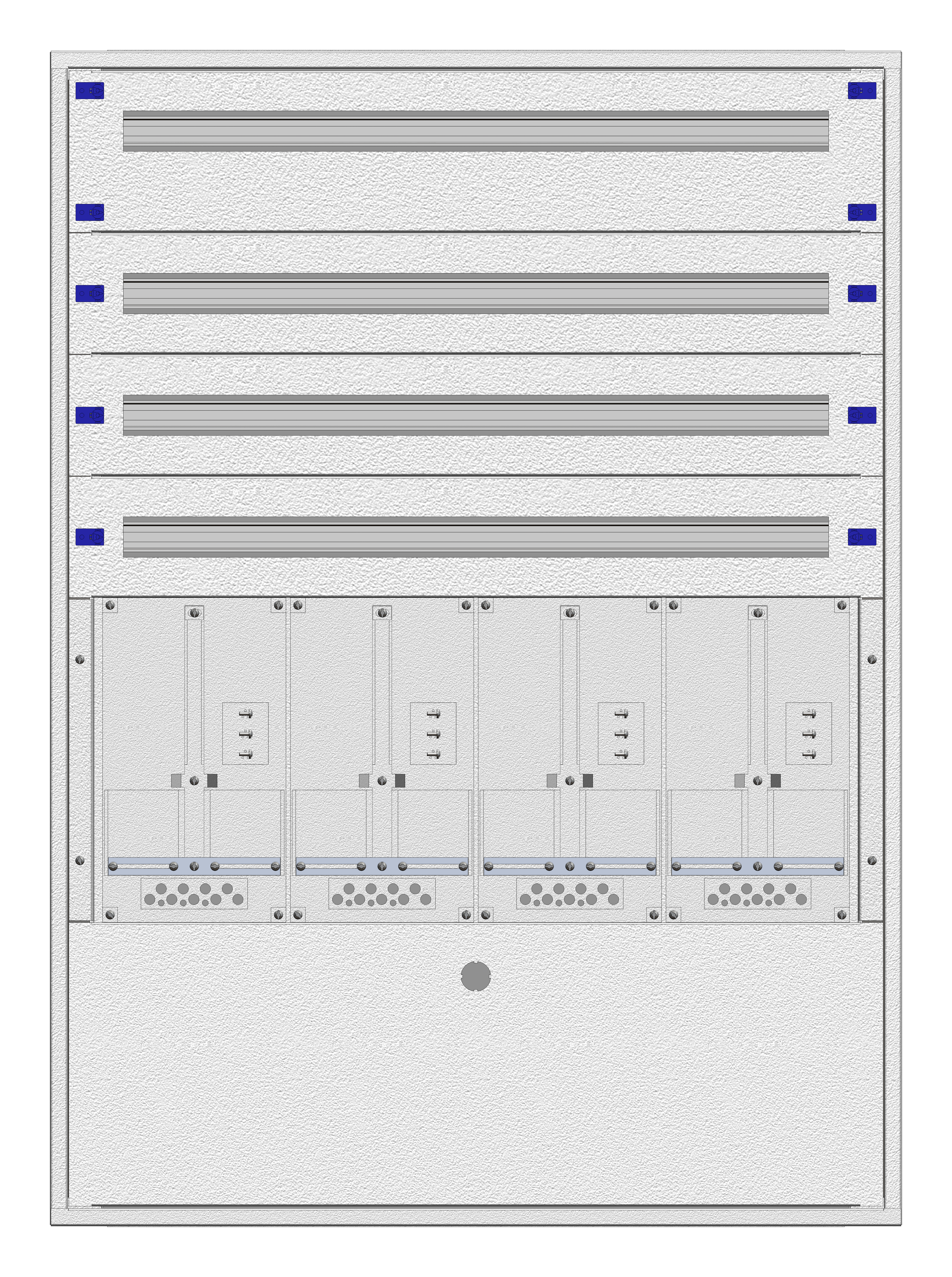 1 Stk Aufputz-Zählerverteiler 4A-28E/NOE 4ZP, H1380B1030T250mm IL160428NS