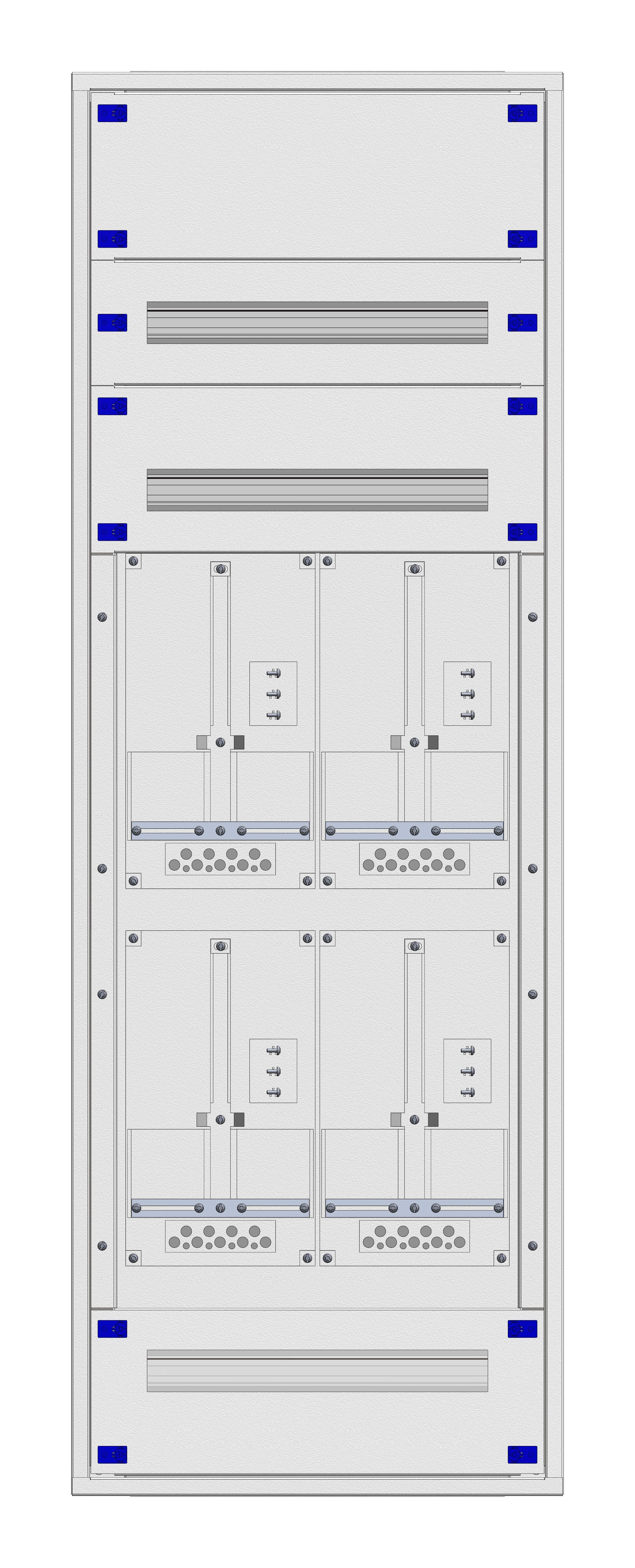 1 Stk Aufputz-Zählerverteiler 2A-33G/VBG 4ZP, H1605B590T250mm IL162233VS