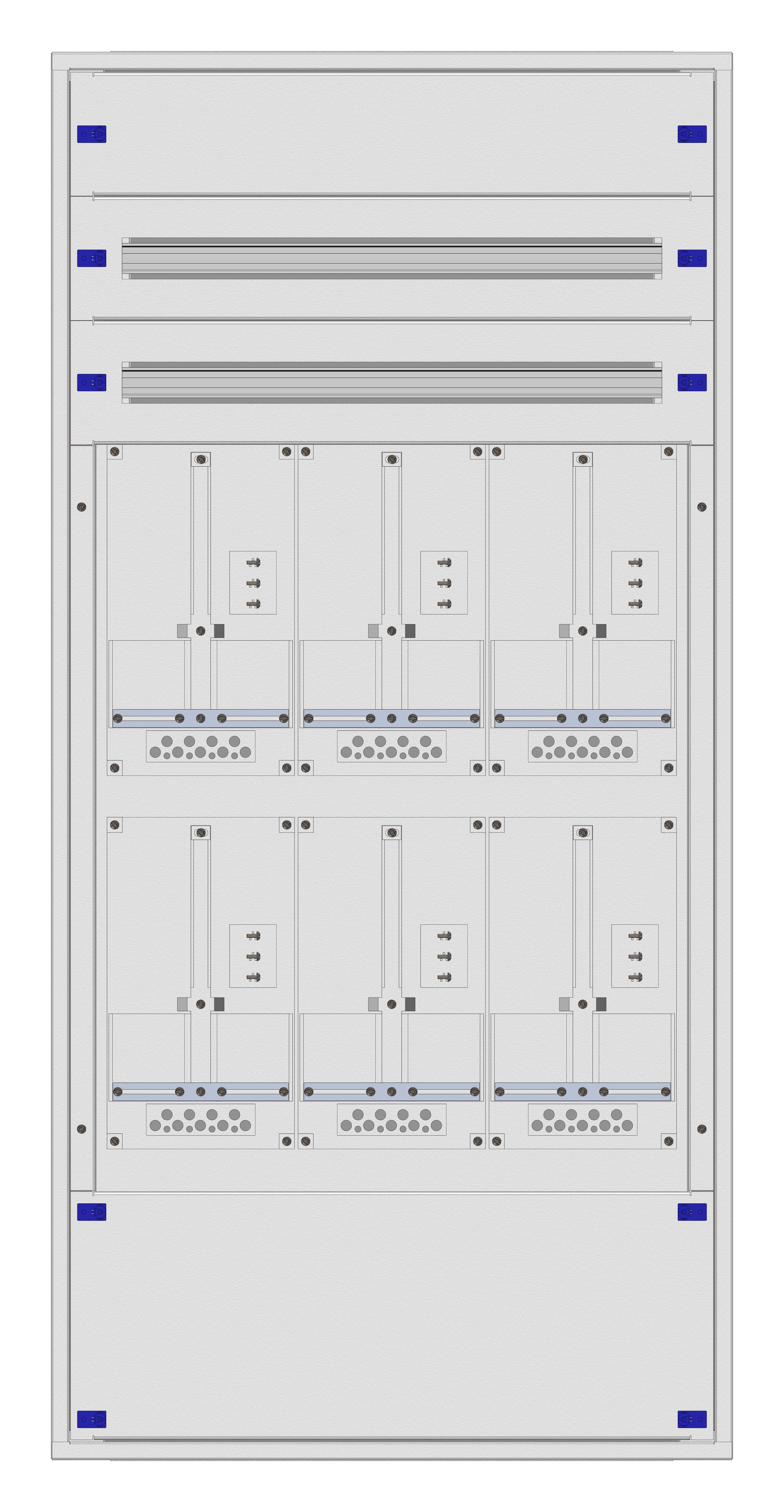 1 Stk Aufputz-Zählerverteiler 3A-33H/KTN 6ZP, H1605B810T250mm IL162333KK