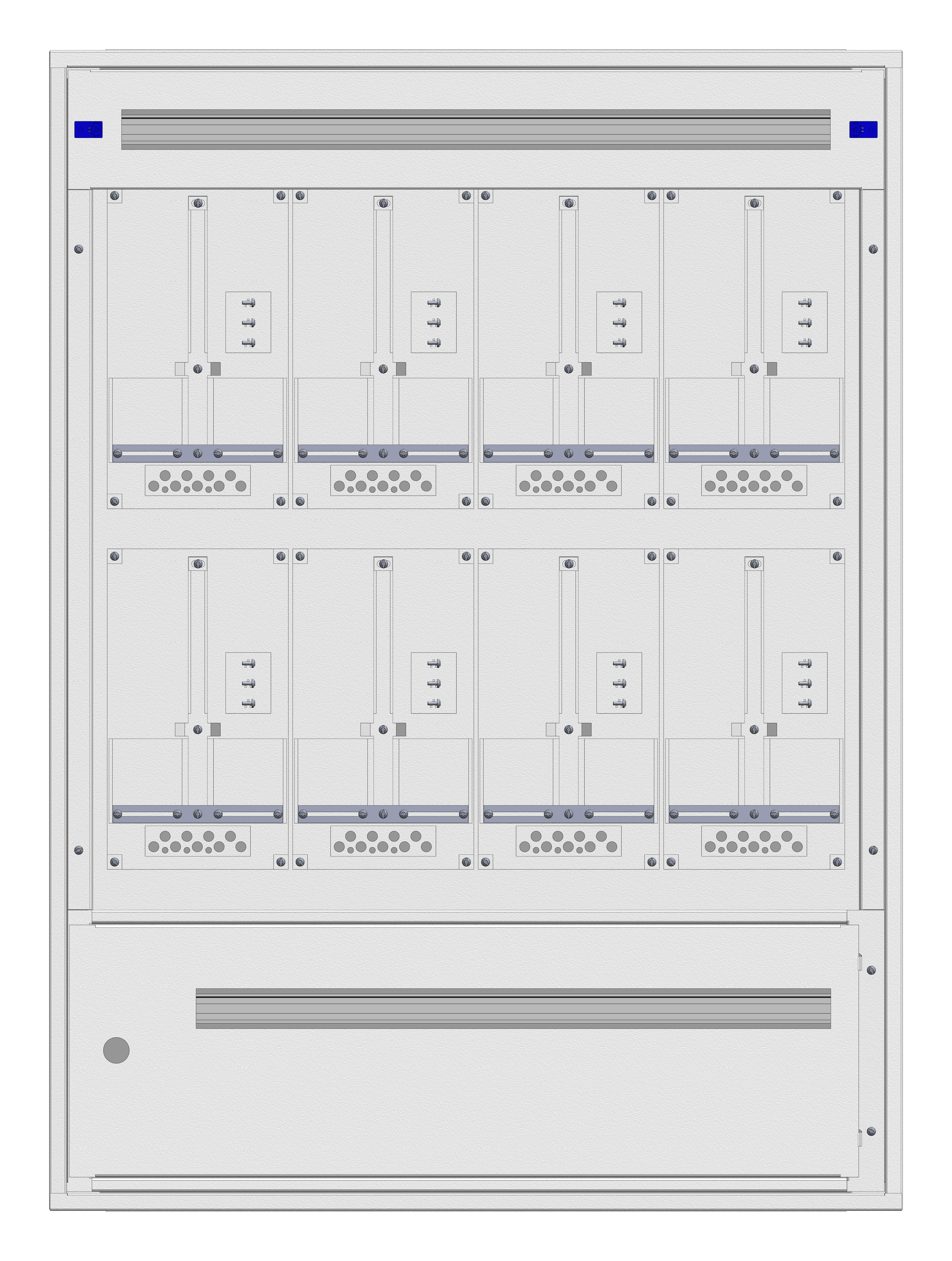 1 Stk Aufputz-Zählerverteiler 4A-28G/STMK 8ZP, H1380B1030T250mm IL162428GS