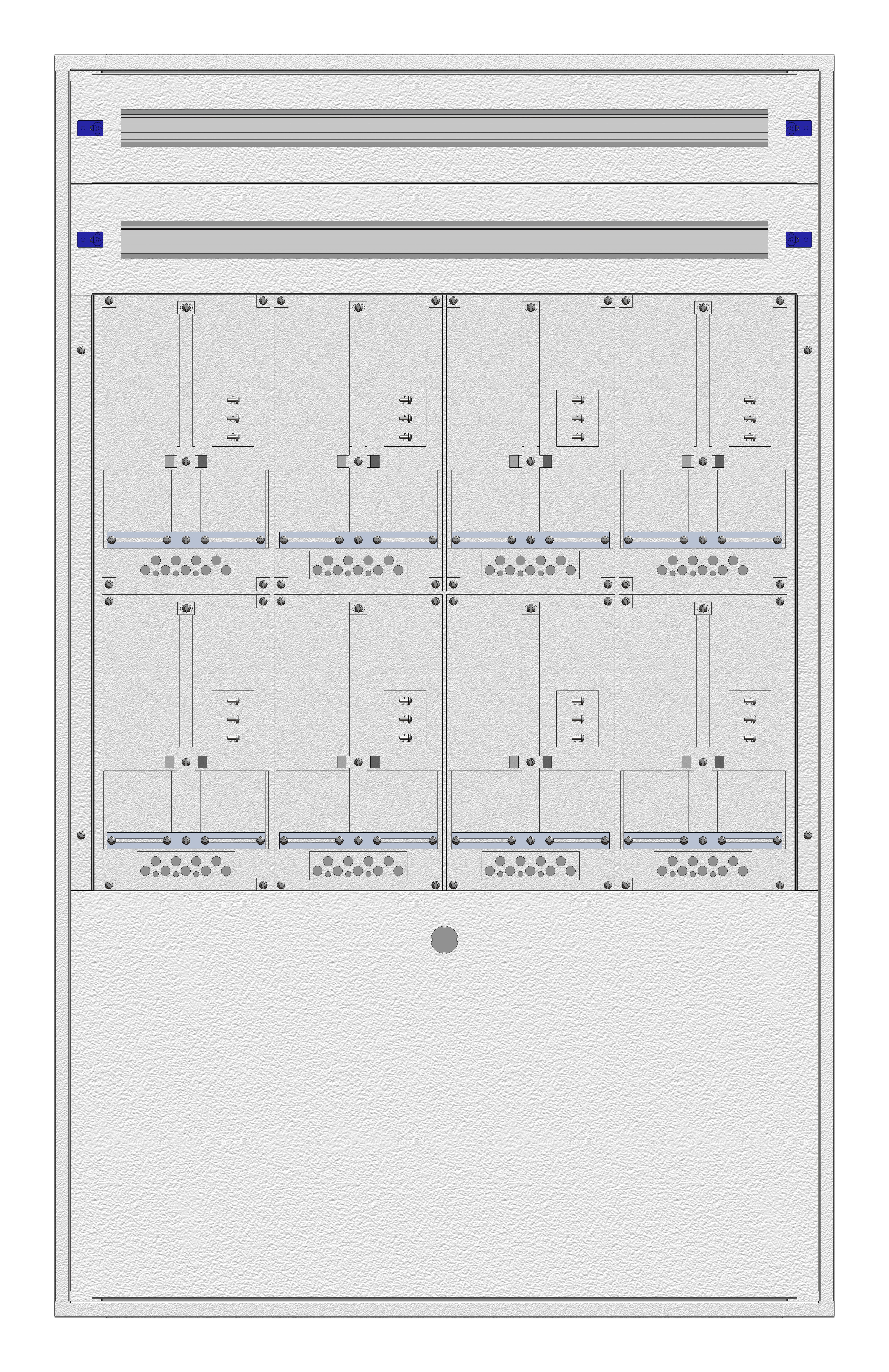 1 Stk Aufputz-Zählerverteiler 4A-33G/BGLD 8ZP, H1605B1030T250mm IL162433BS