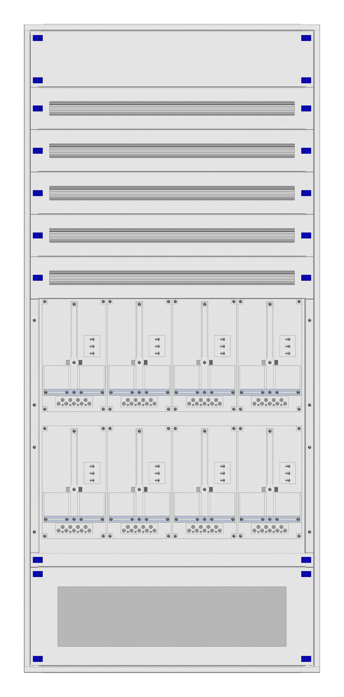 1 Stk Aufputz-Zählerverteiler 4A-45G/VBG 8ZP, H2160B1030T250mm IL162445VS
