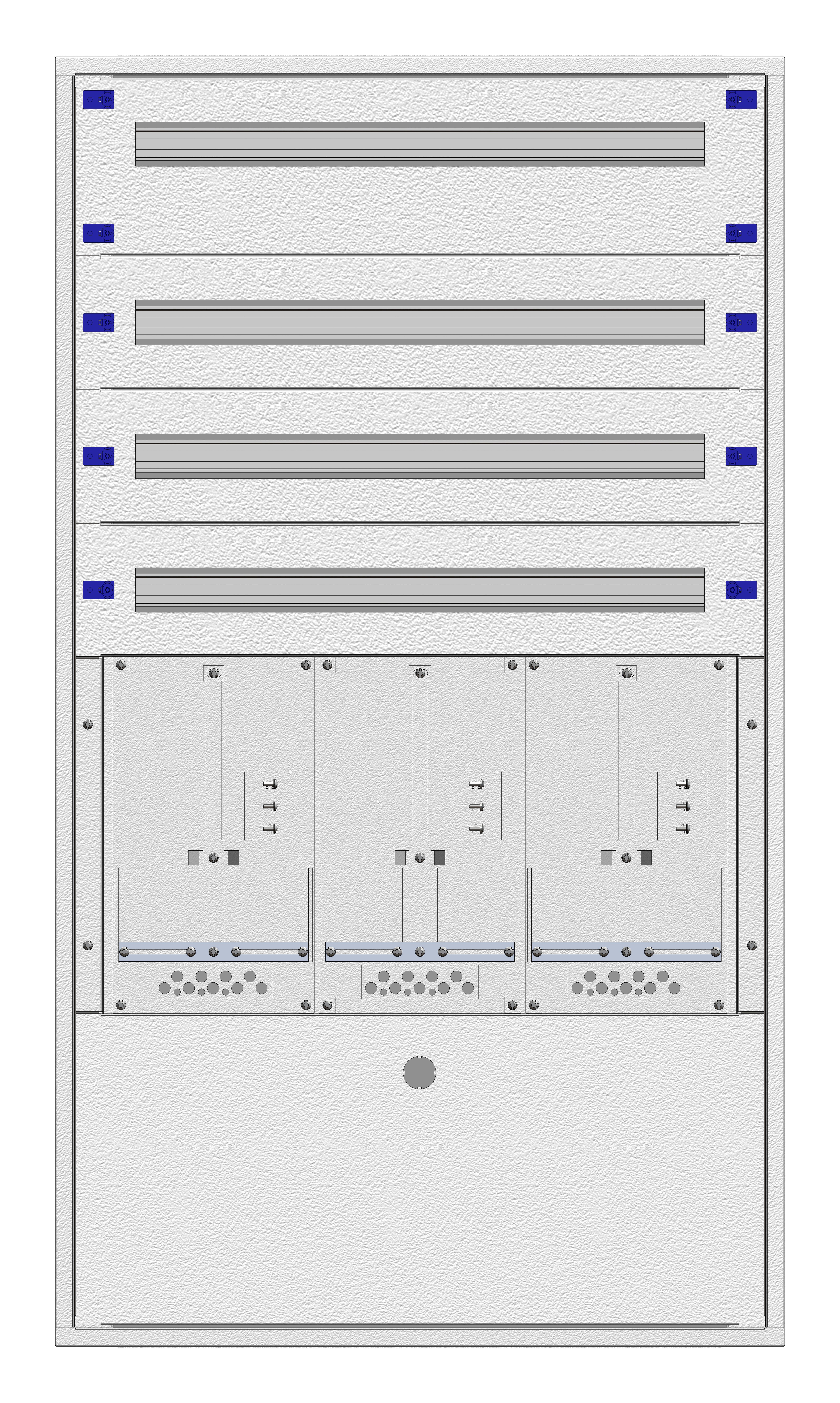 1 Stk Unterputz-Zählerverteiler 3U-28E/BGLD 3ZP, H1380B810T250mm IL164328BS