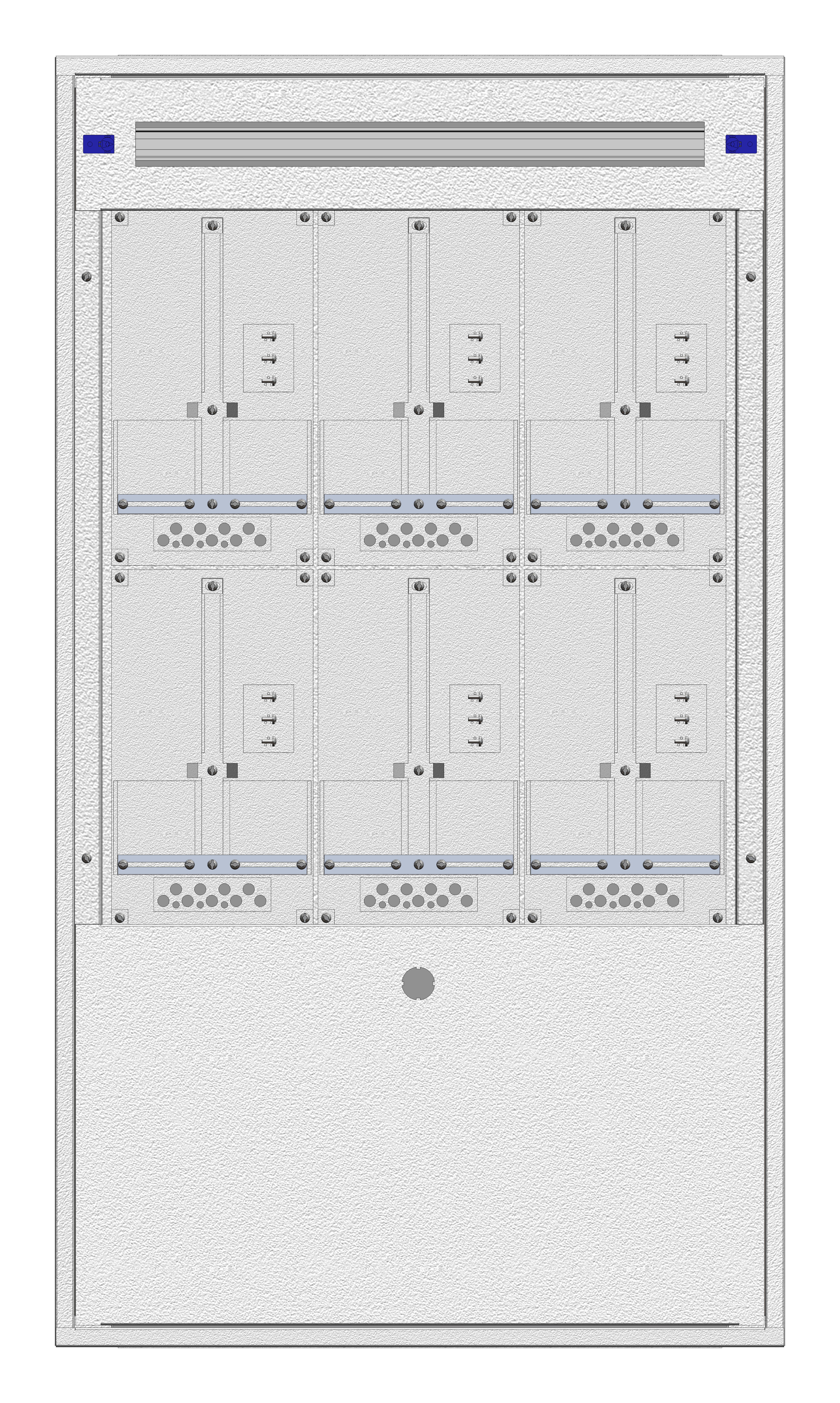 1 Stk Unterputz-Zählerverteiler 3U-28G/BGLD 6ZP, H1380B810T250mm IL166328BS