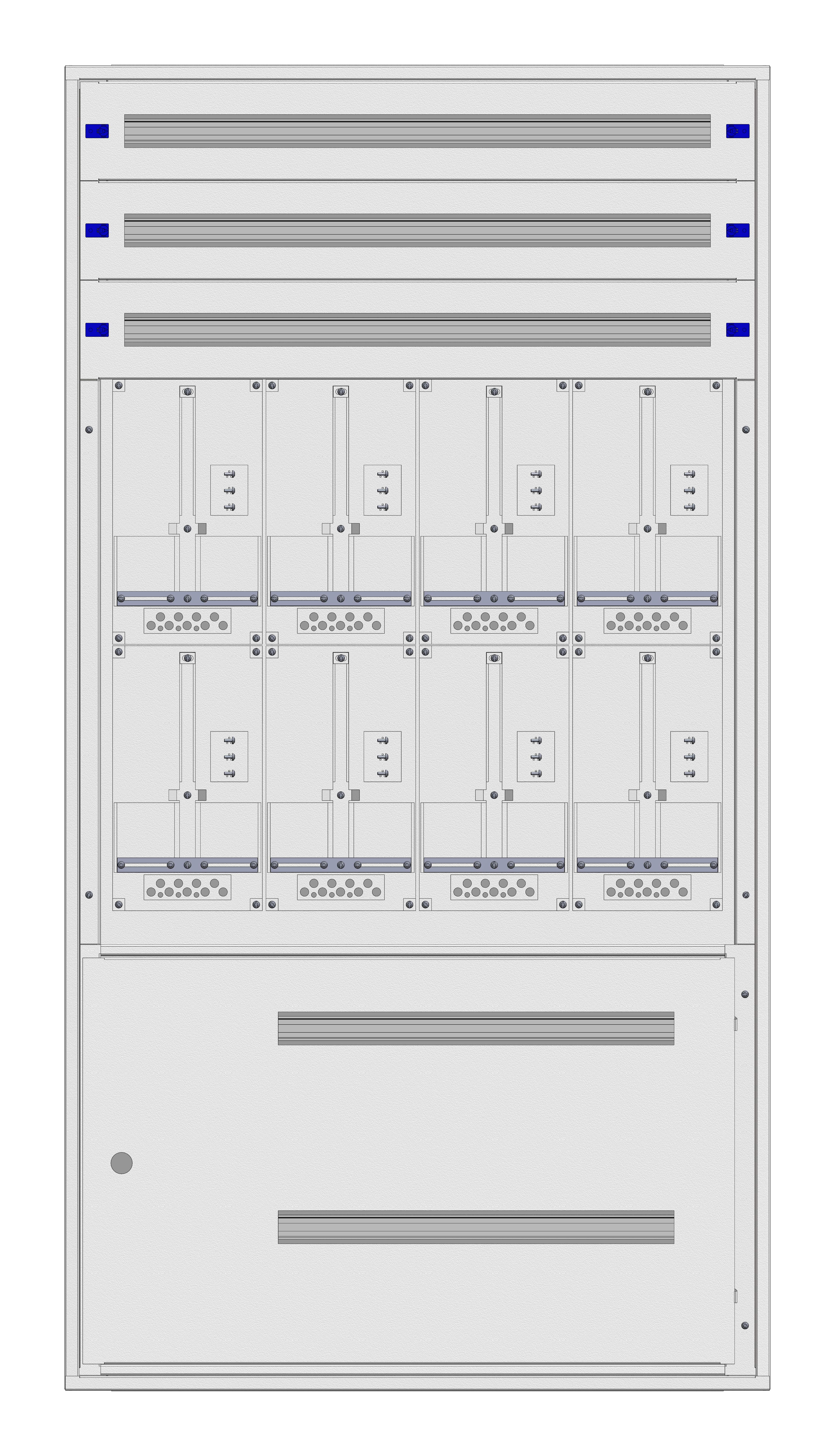 1 Stk Unterputz-Zählerverteiler 4U-39G/STMK 8ZP, H1885B1030T250mm IL166439GS