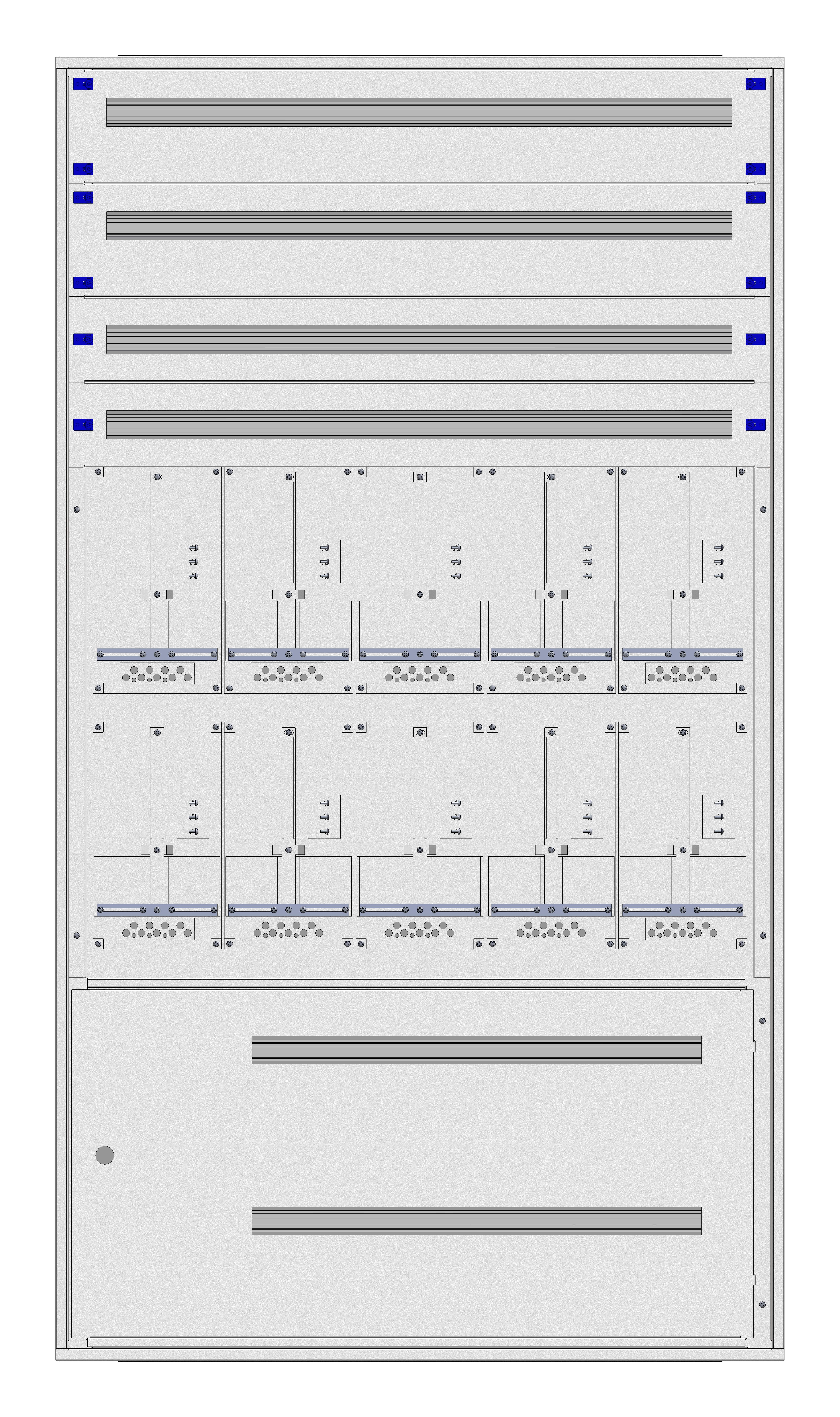 1 Stk Unterputz-Zählerverteiler 5U-45G/STMK 10ZP, H2160B1230T250mm IL166545GS
