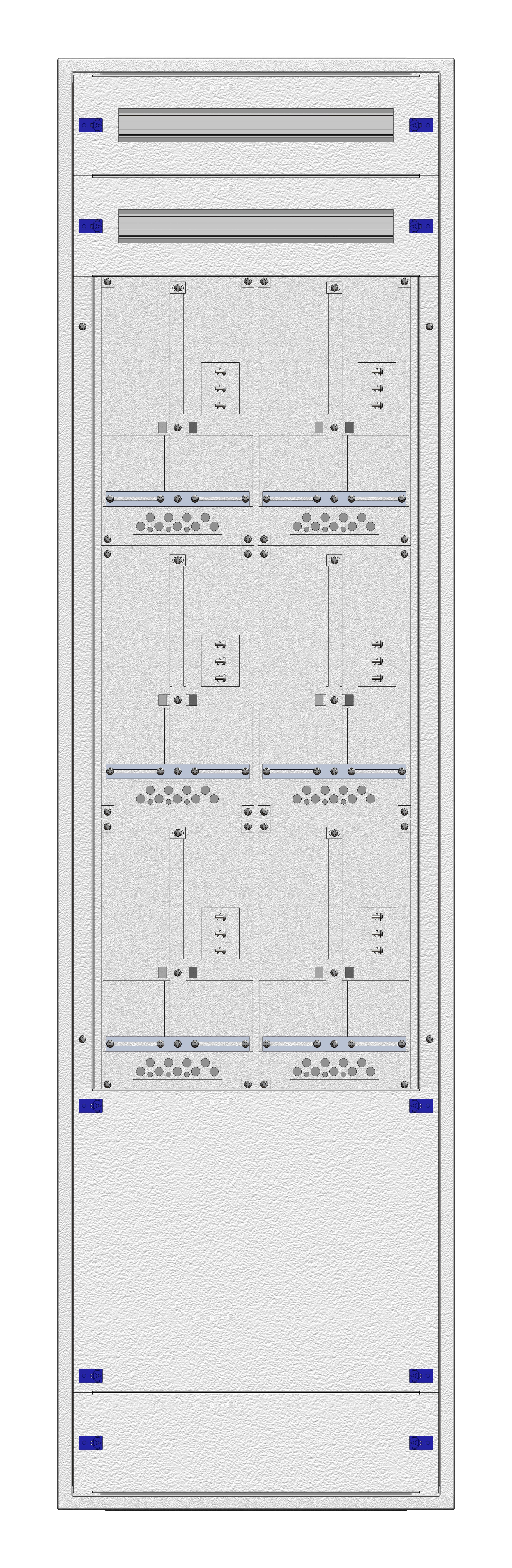 1 Stk Unterputz-Zählerverteiler 2U-42M/WIEN 6ZP, H2025B590T250mm IL170242WS