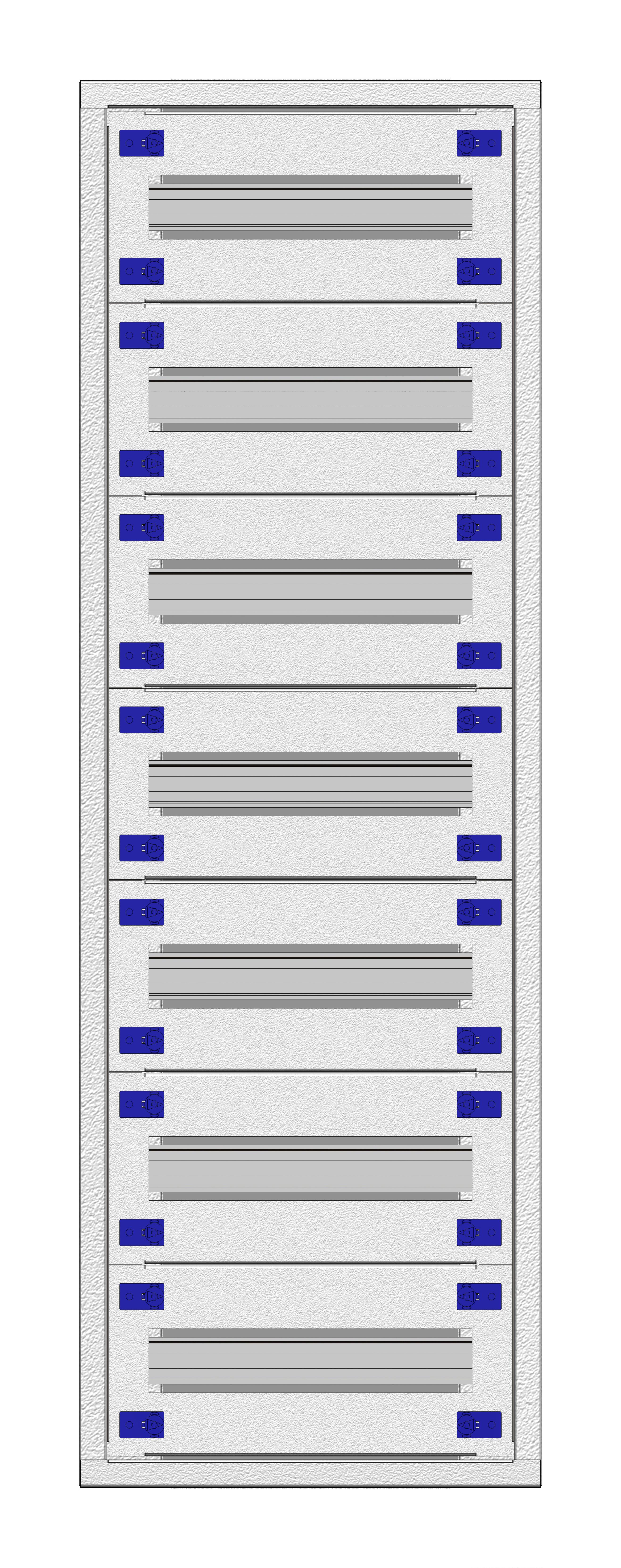 1 Stk Aufputz-Installationsverteiler 1A-21K, H1055B380T250mm IL172121AS
