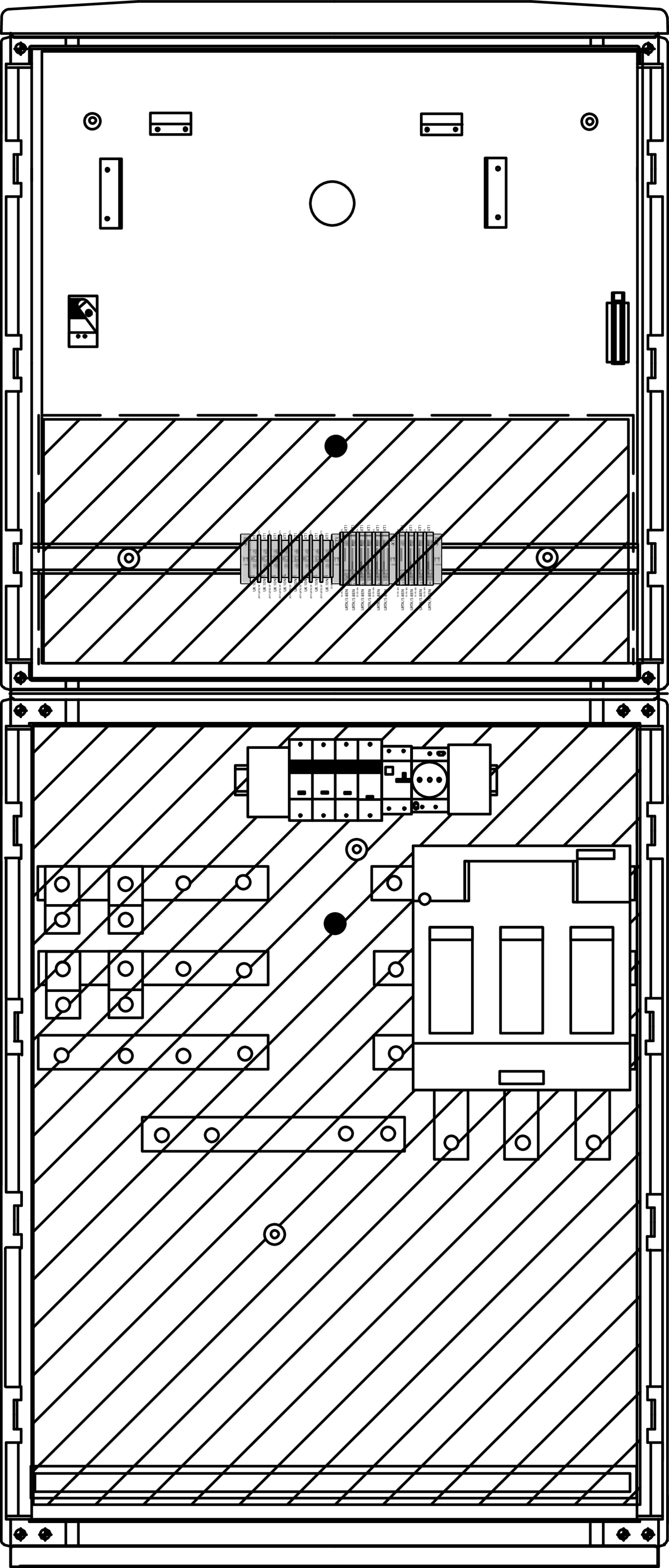 1 Stk Messwandlerschrank 630A,Freiluft,Trenner Gr.3, 785x100x320mm IL190242--