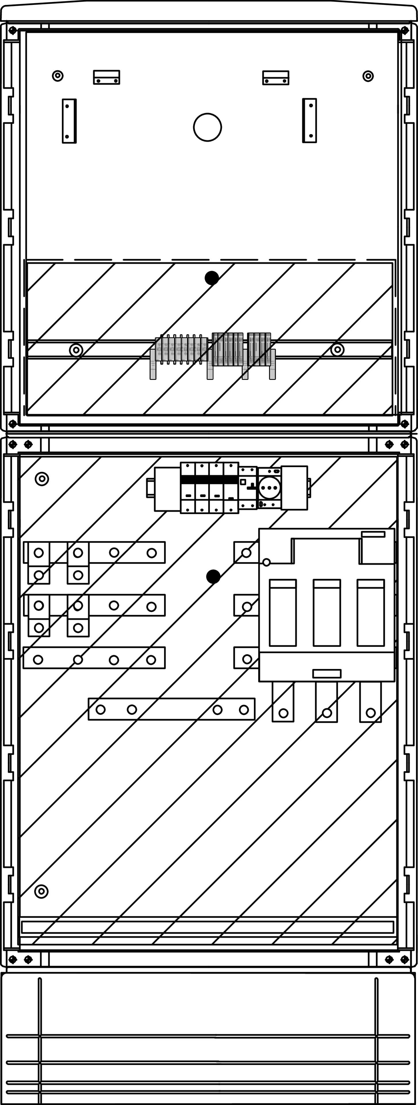1 Stk Messwandler 630A innen mit Sockel IL190252--