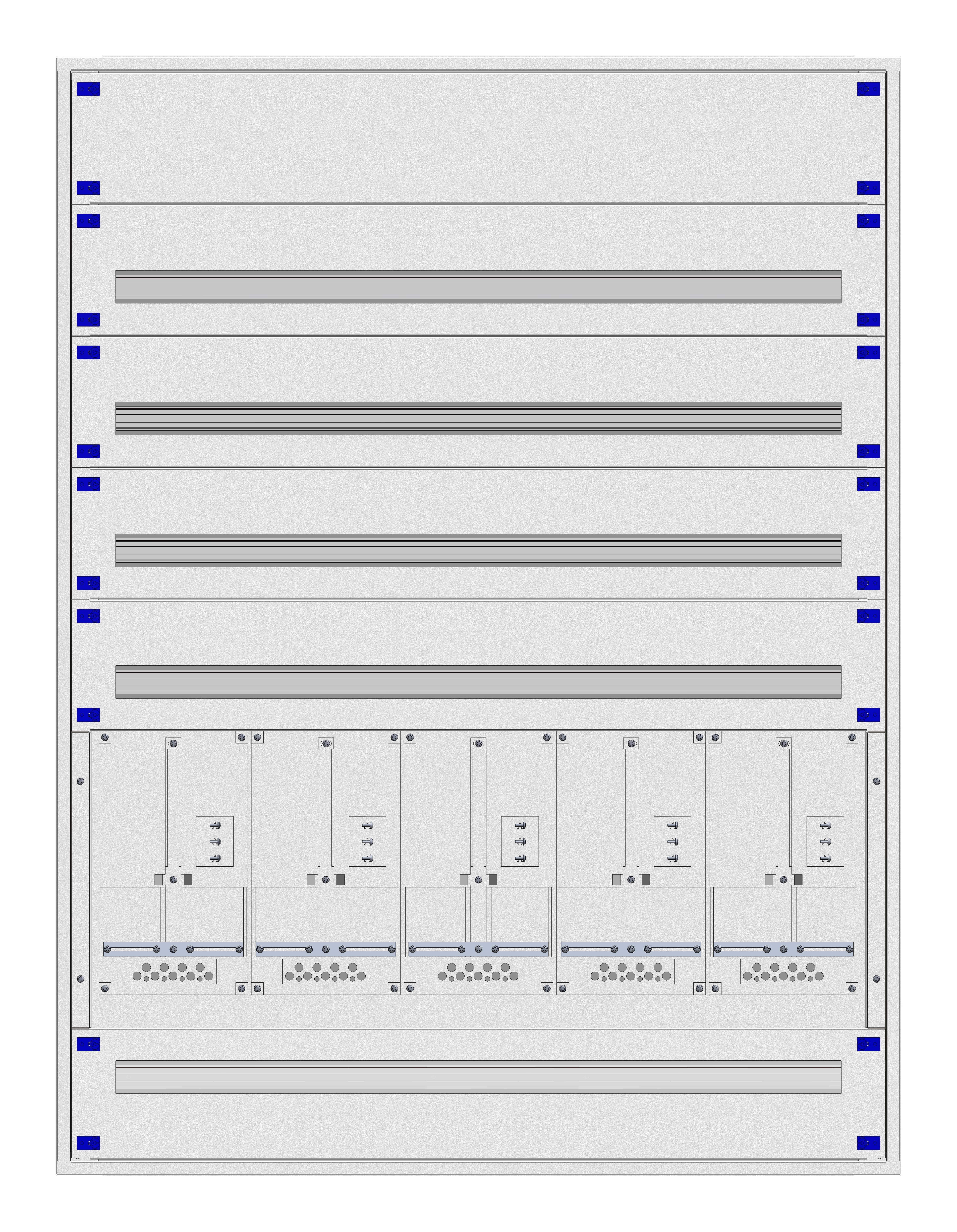 1 Stk ZV Einsatz 5-33E kompl. 5 Zählerpl. Frontbl. Stahlbl. VLBG IL415533--
