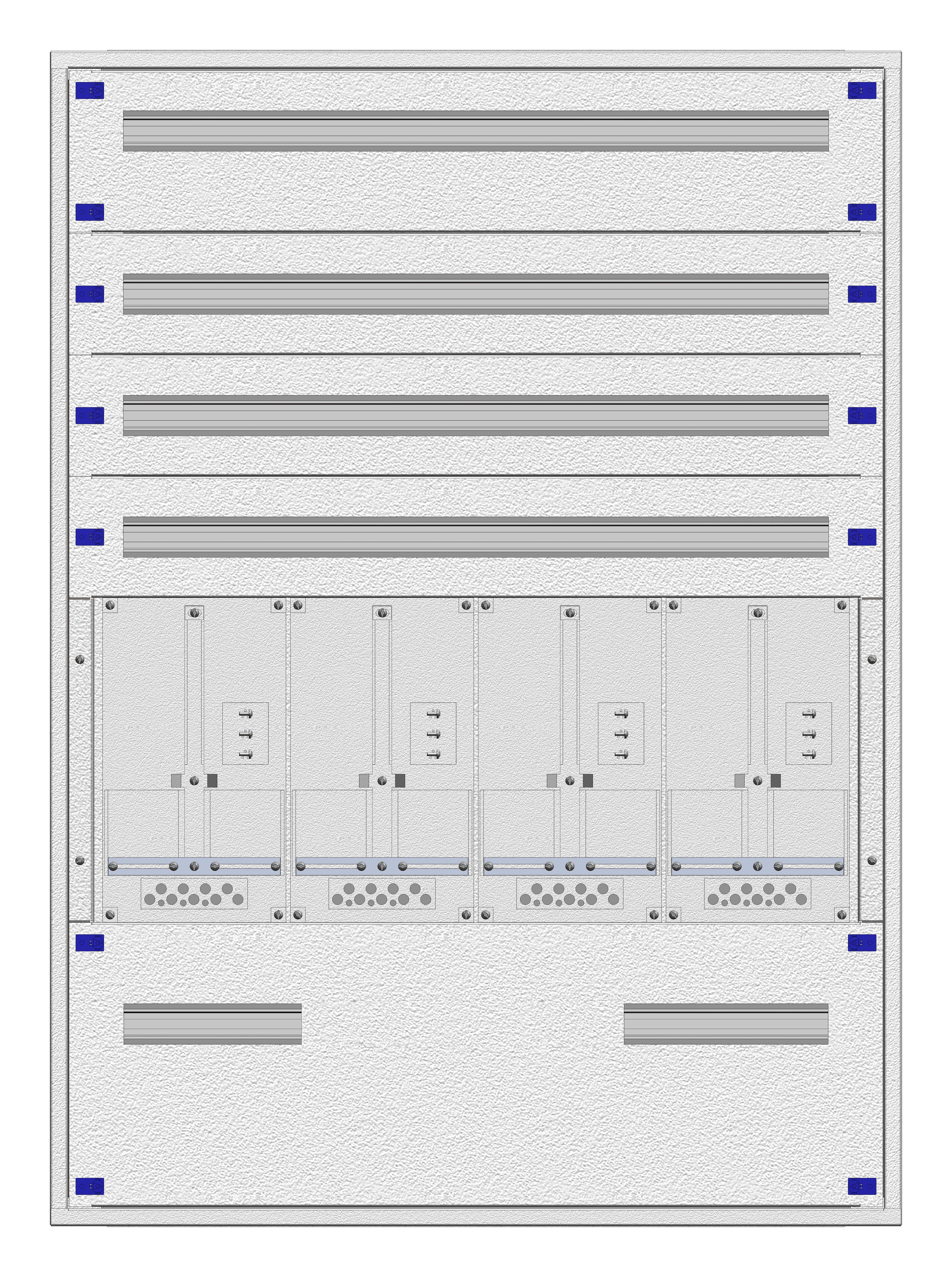 1 Stk Eco-AP-Verteiler 4A28 + Rückwand OÖ/SBG– RAL7035 IL865428--