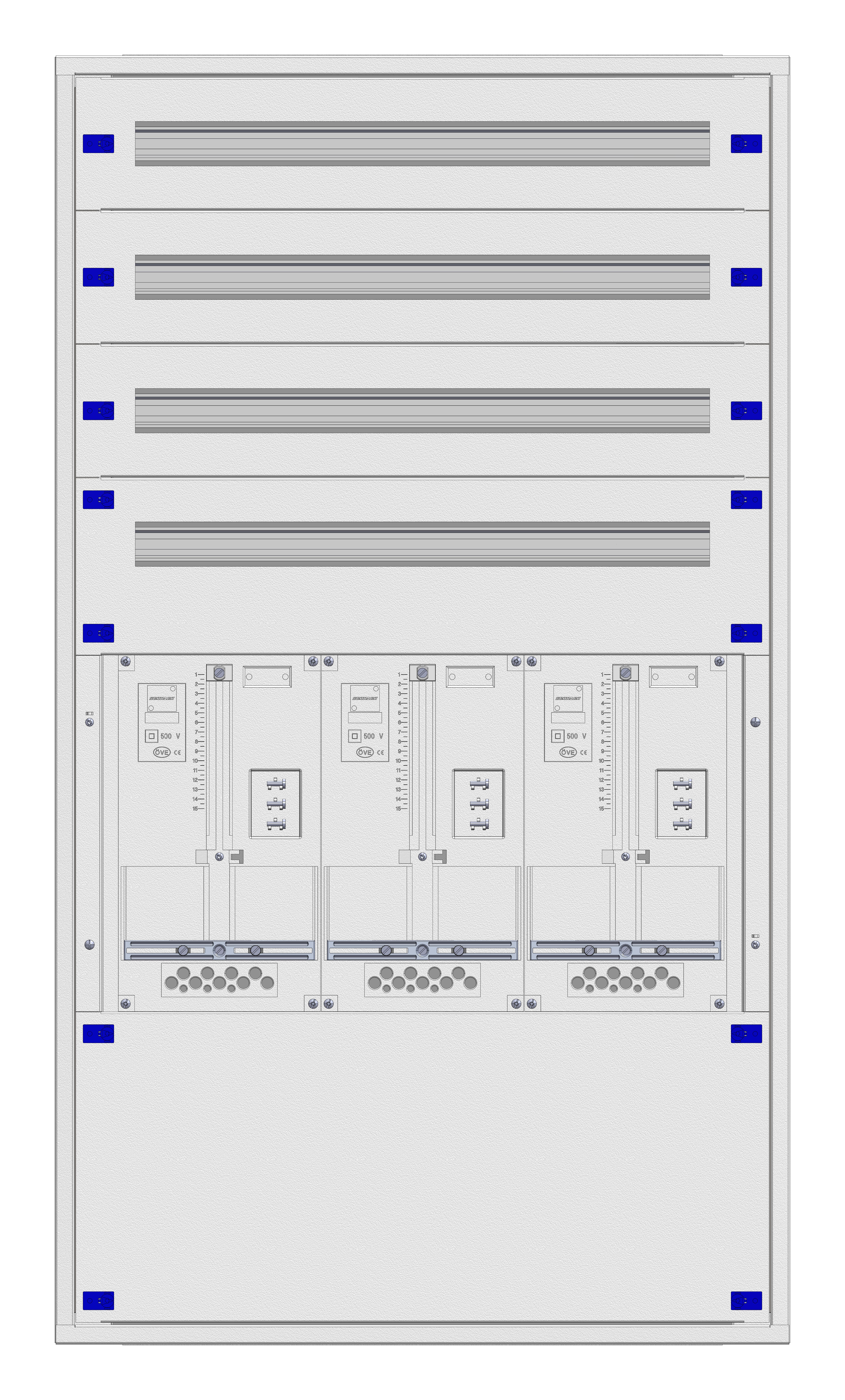 1 Stk Eco 3S UP-Verteiler 3U28 + Mauerwanne EVN-RAL9016 IL9643283S