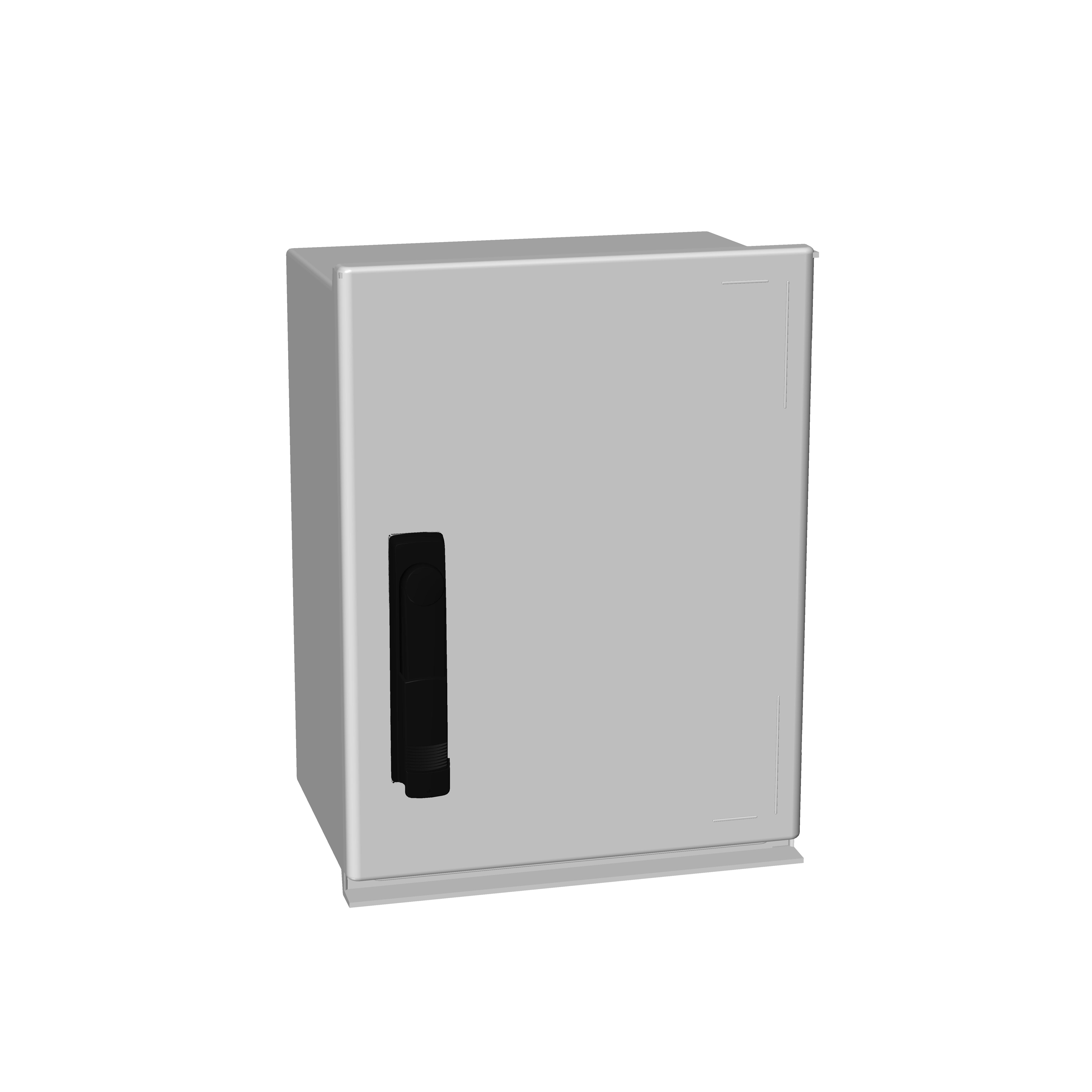 1 Stk Minipol-Wandschrank 3-Punkt Stangenverschl. 400x300x200mm IM088843--